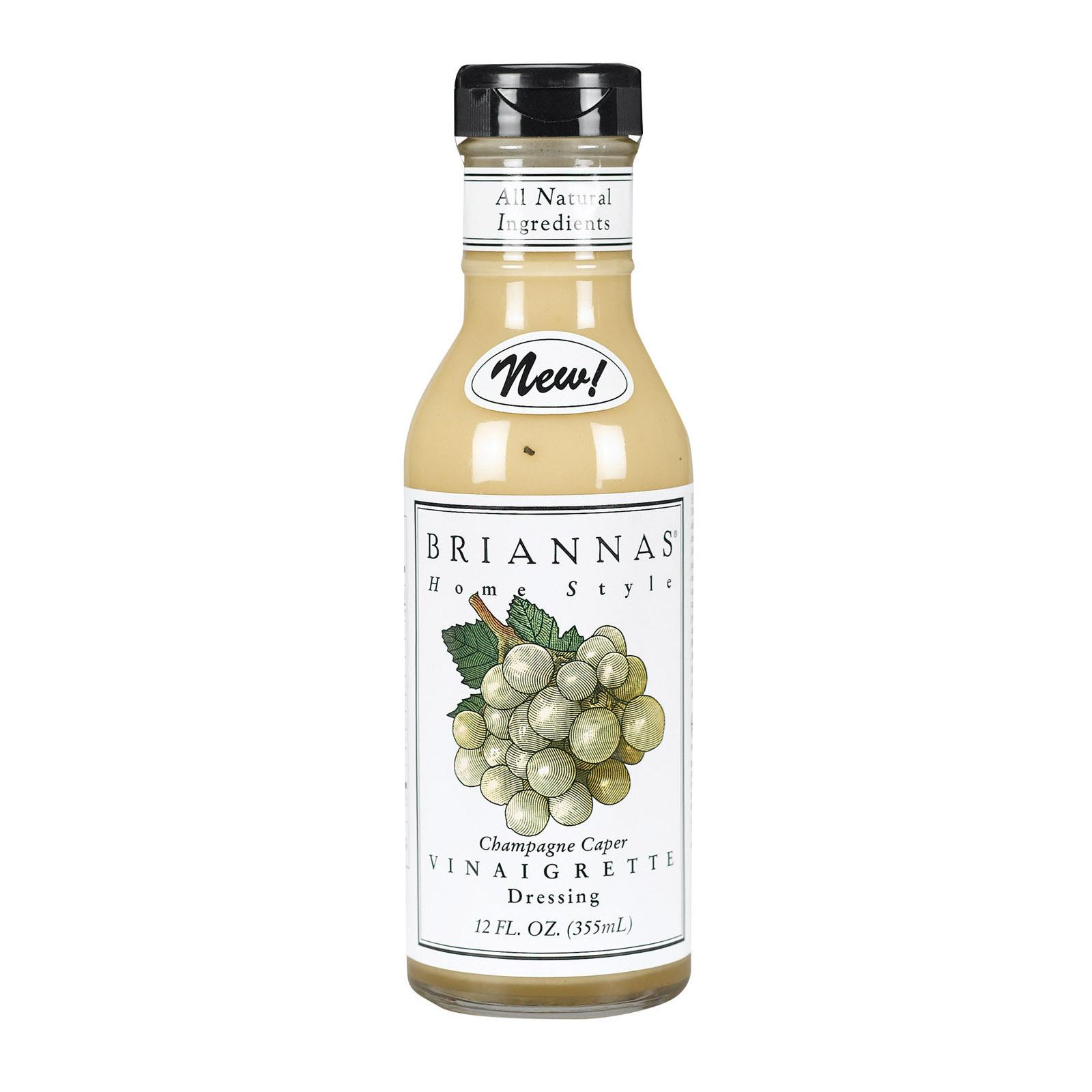 Brianna's Vinaigrette Dressing - Champagne Caper - Case of 6 - 12 oz.