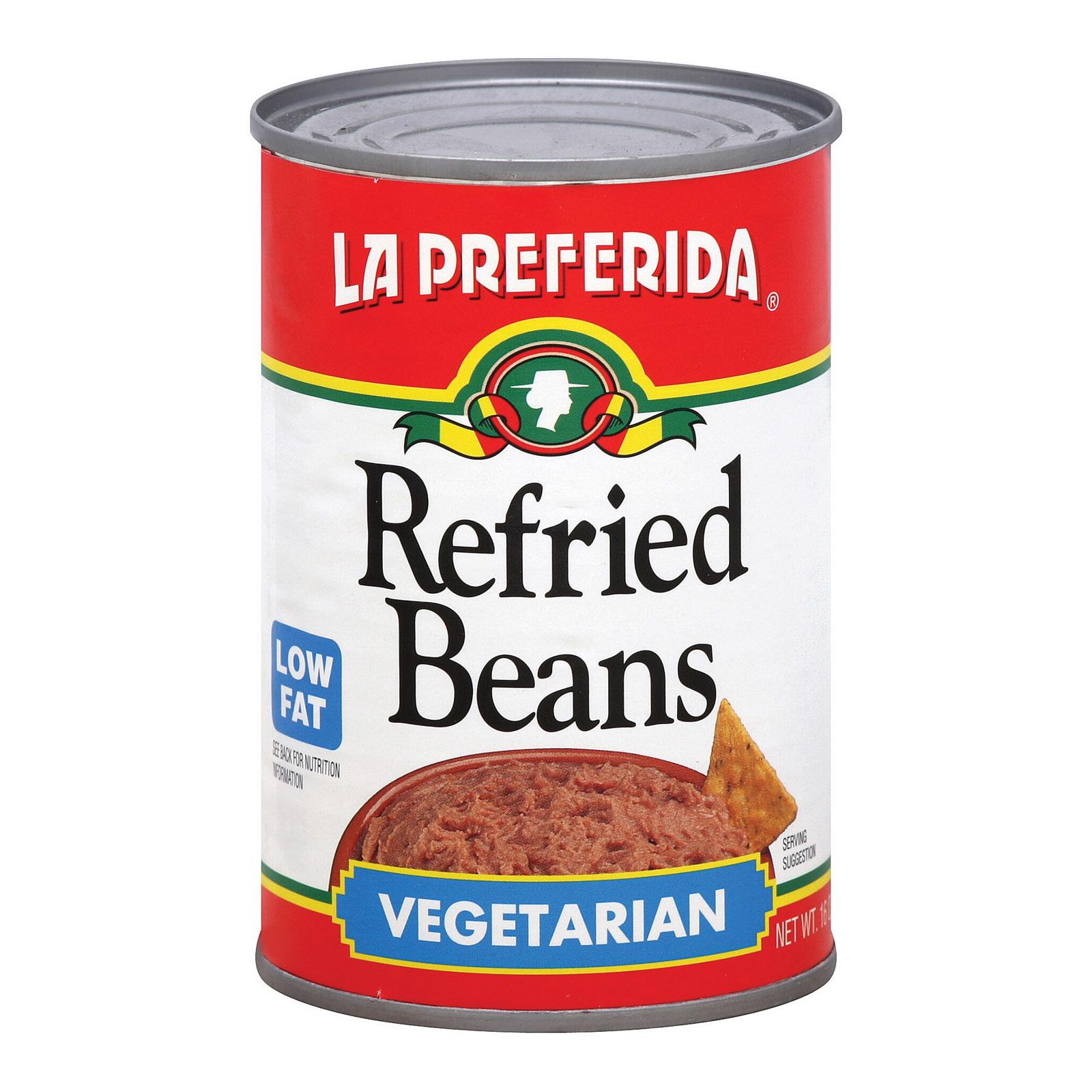 La Preferida Refried Beans - Vegetarian - Case of 12 - 16 oz