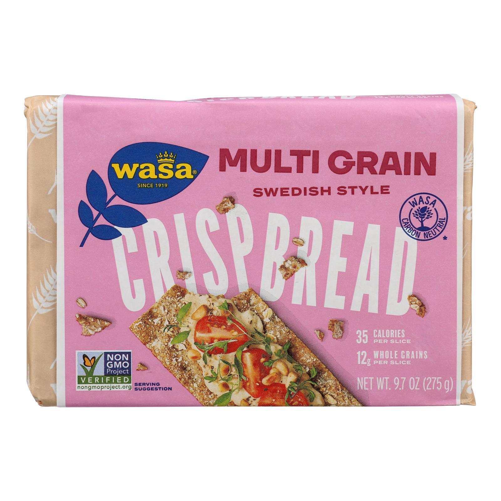 Wasa Crispbread Multigrain - Whole Grain - Case of 12 - 9.7 oz.