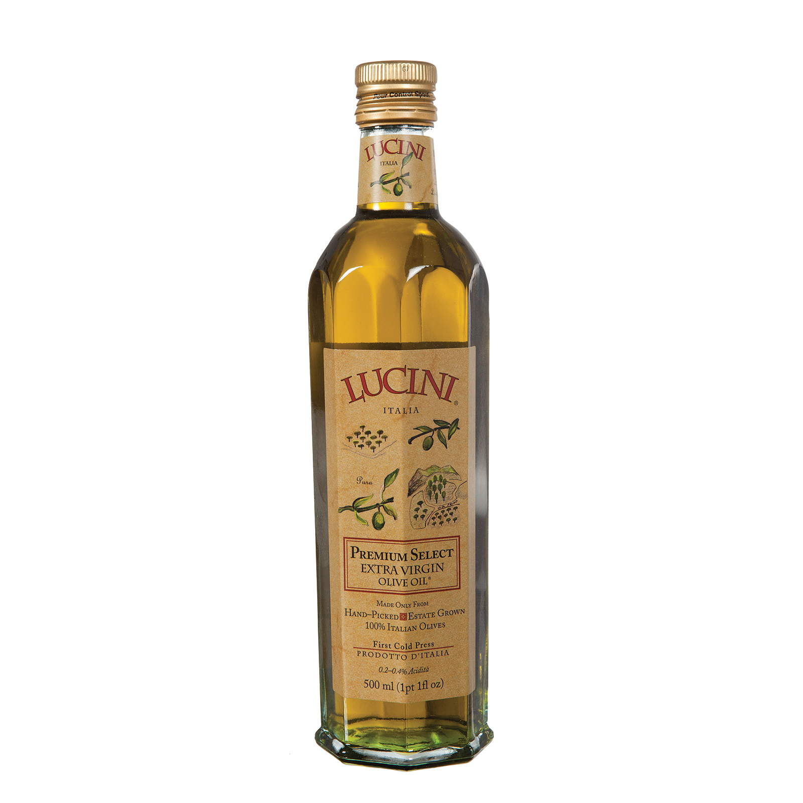 Lucini Italia Premium Select Extra Virgin Olive Oil - Case of 6 - 17 Fl oz.
