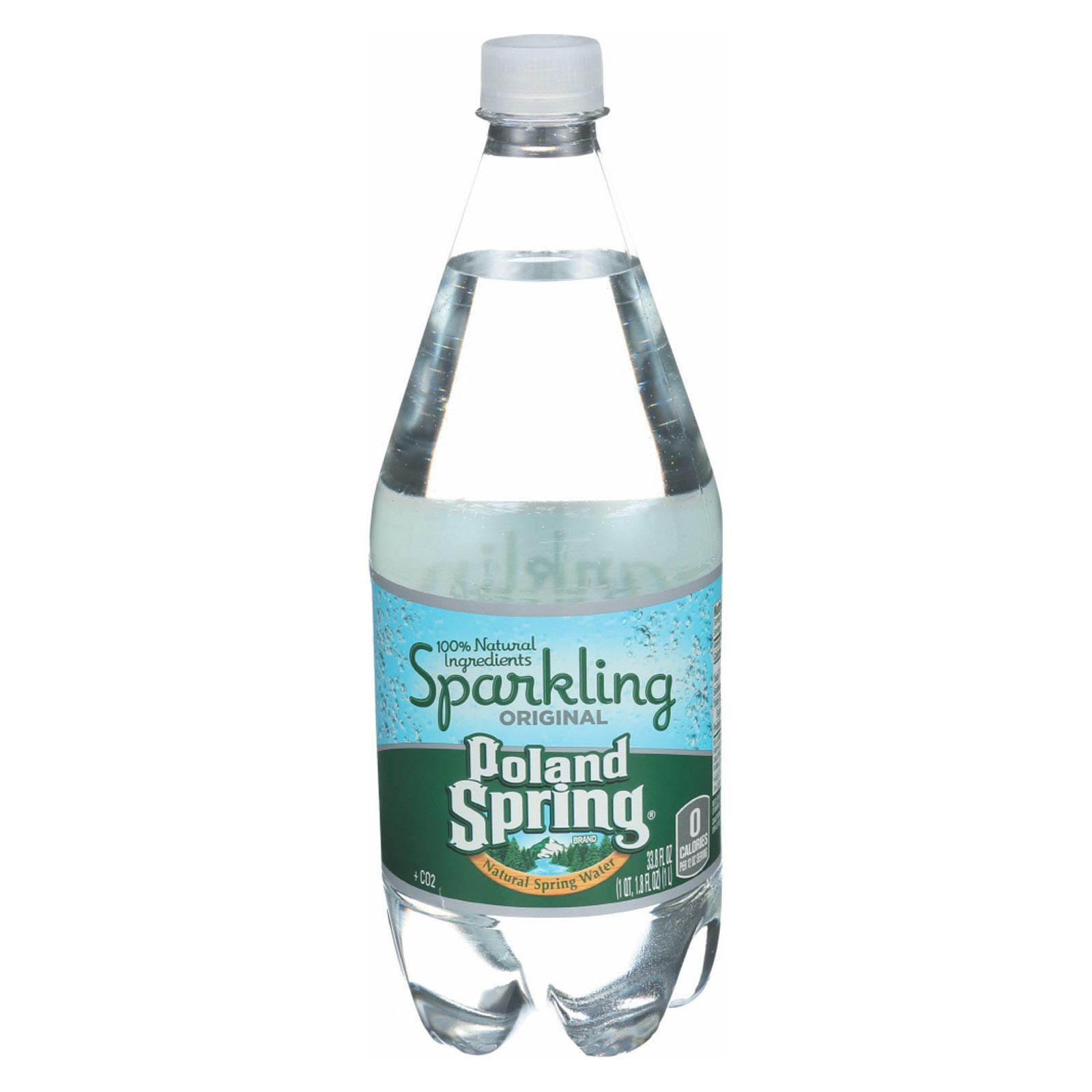 Poland Spring Sparkling Water - Original - Case of 12 - 33.8 Fl oz.
