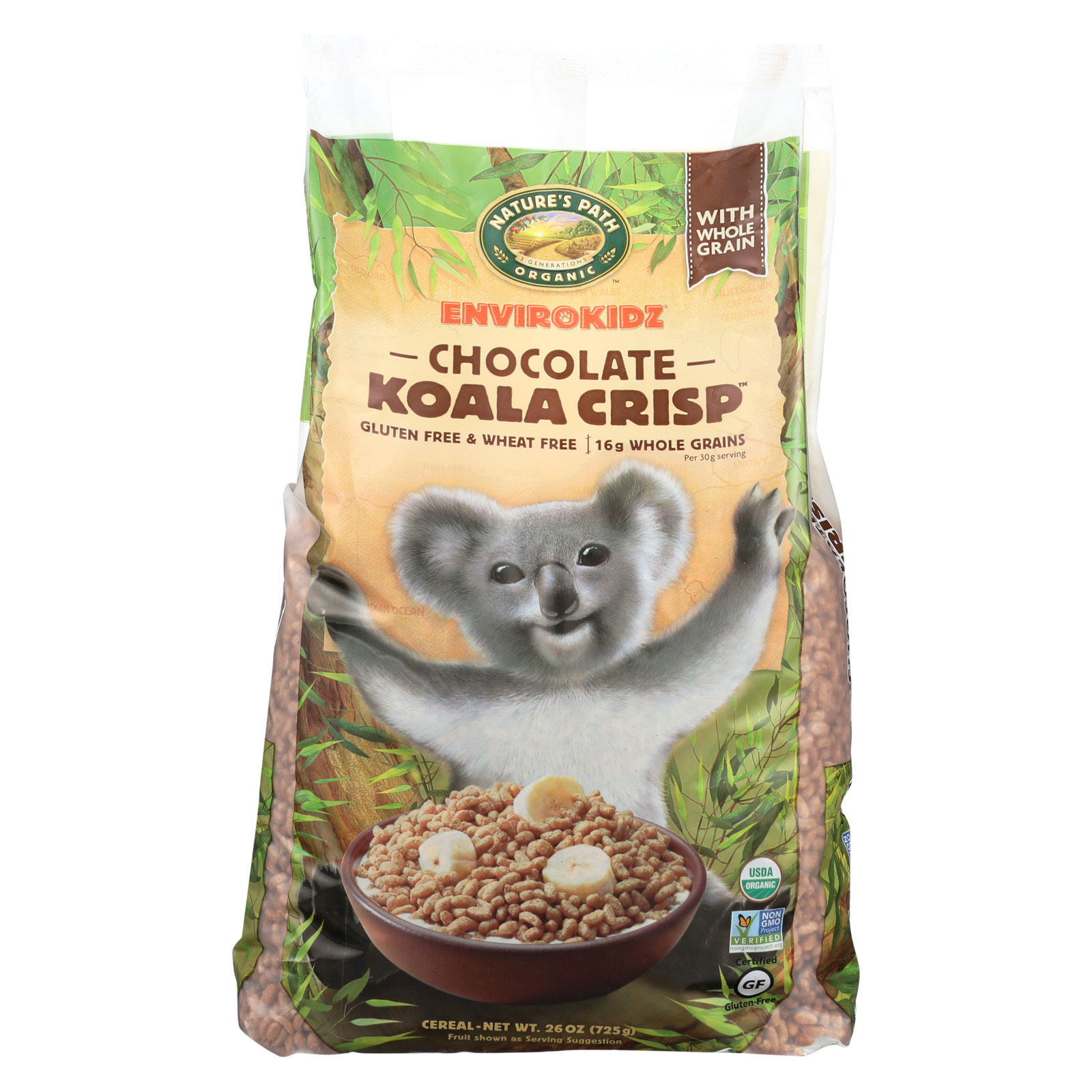 Envirokidz Organic Koala Crisp - Chocolate Cereal - Case of 6 - 25.6 oz.