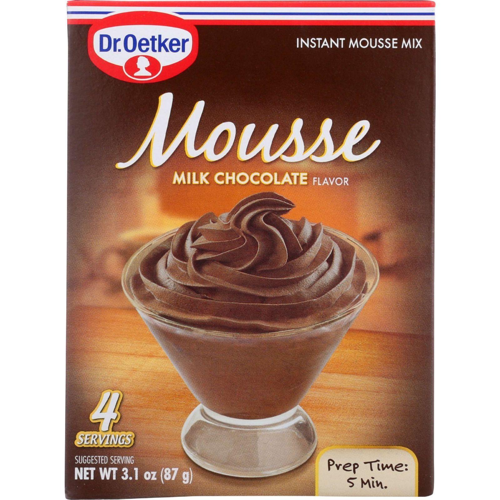 Dr. Oetker Organics Mousse Mix - Supreme - Instant - Milk Chocolate - 3.1 oz - 1 each