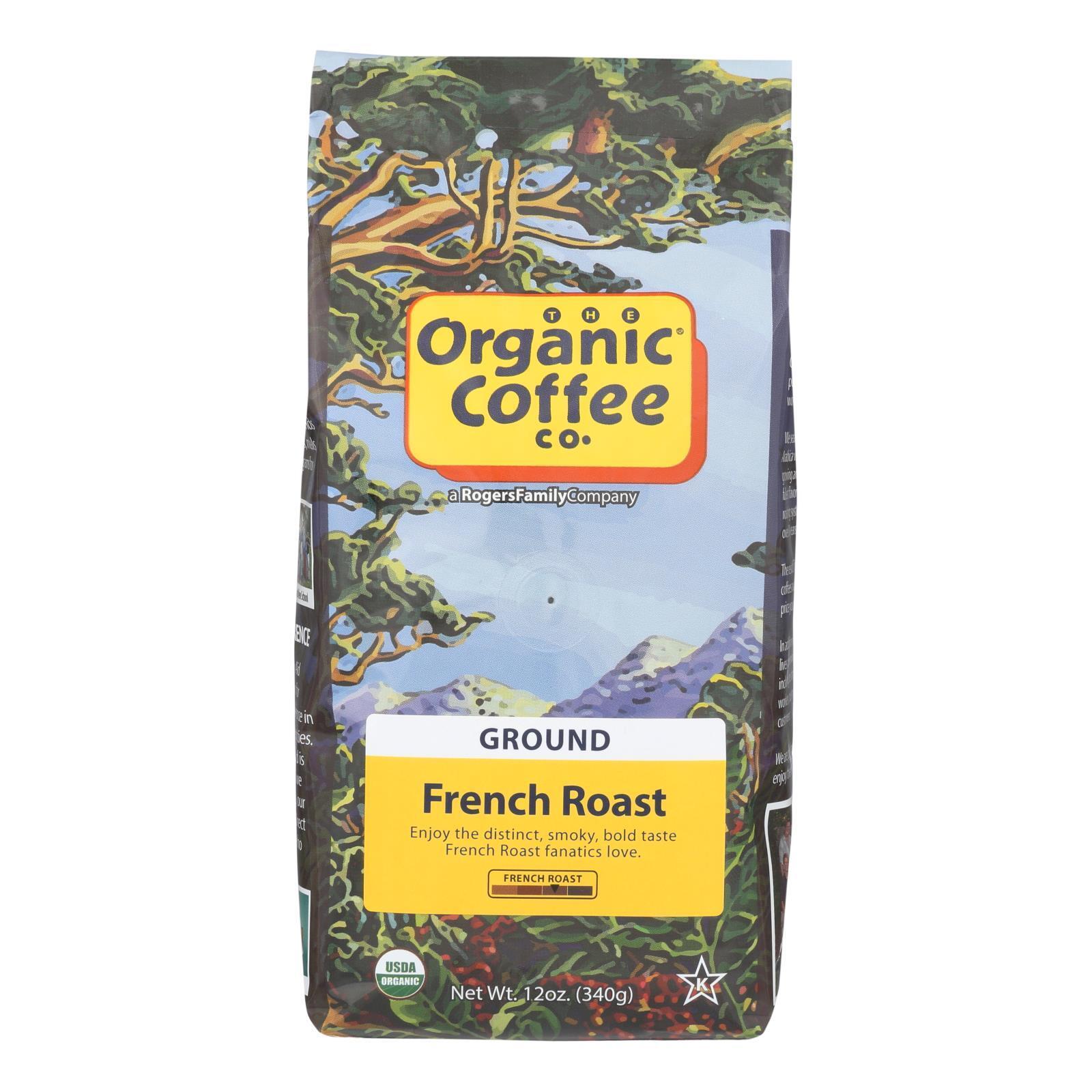 Organic Coffee Coffee - Organic - Ground - French Roast - 12 oz - case of 6