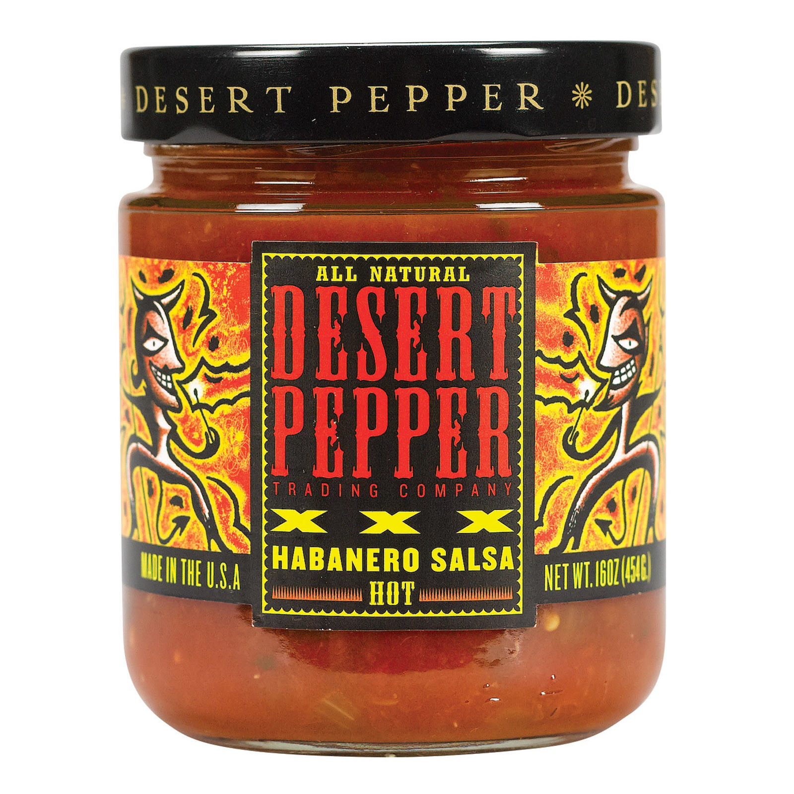 Desert Pepper Trading Xxxtra Hot Habanero Salsa - Case of 6 - 16 oz.