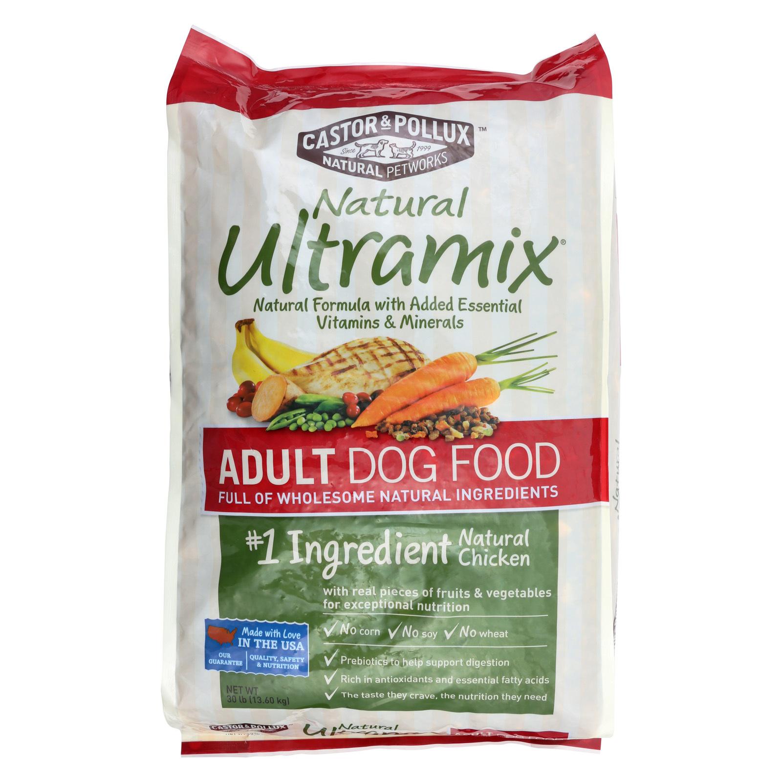 Castor and Pollux Ultra mix Adult Dog Food - 30 lb.