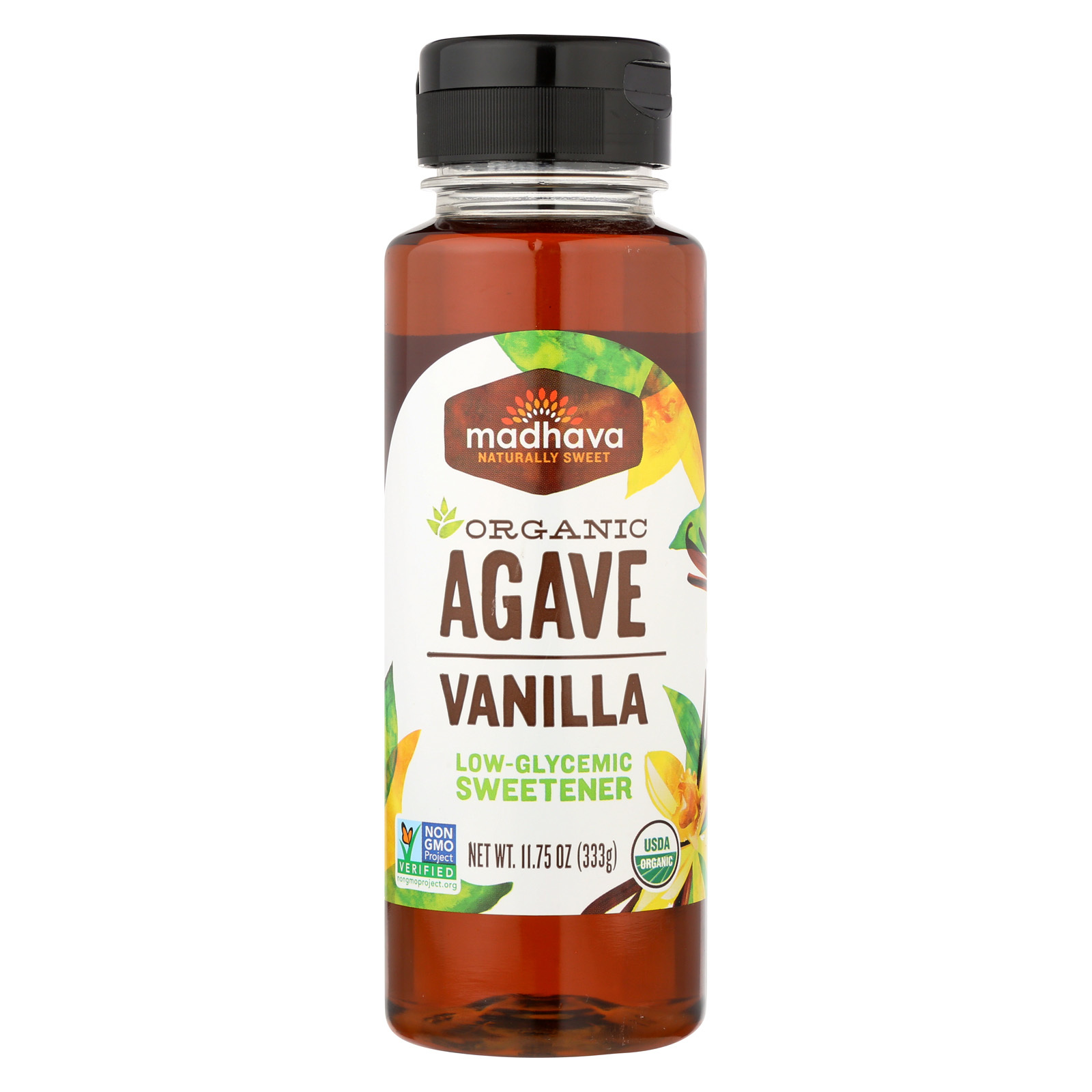 Madhava Honey Organic Agave Nectar - Vanilla - Case of 6 - 11.75 Fl oz.