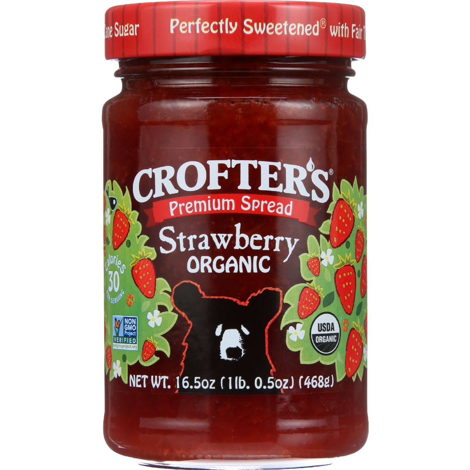 Crofters Fruit Spread - Organic - Premium - Strawberry - 16.5 oz - case of 6
