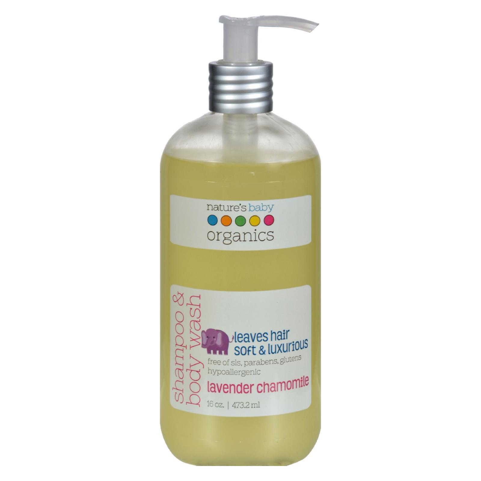 Nature's Baby Organics Shampoo and Body Wash Lavender Chamomile - 16 fl oz