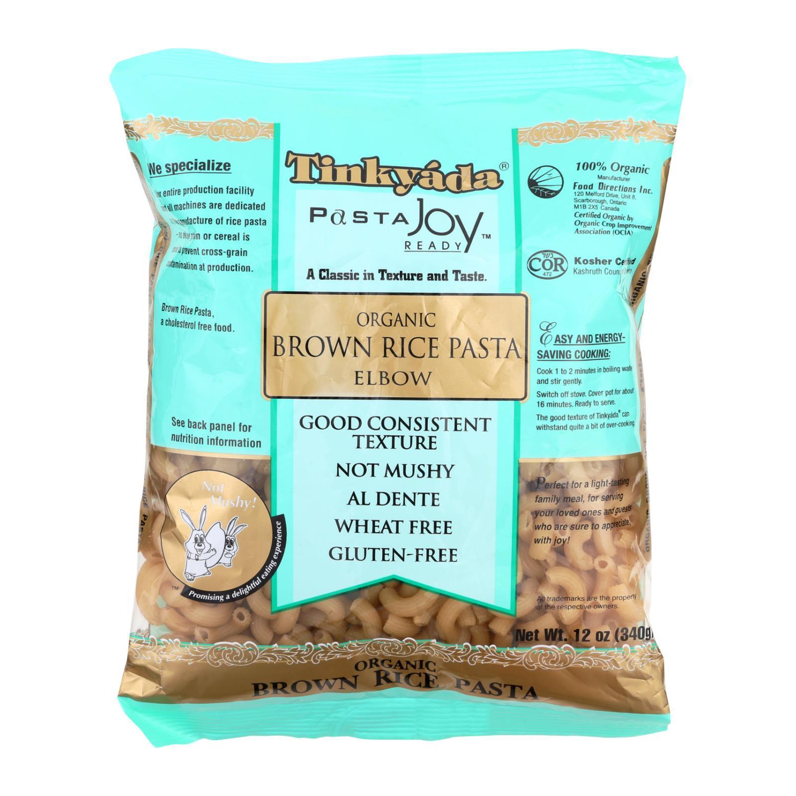 Tinkyada Organic Brown Rice Pasta - Elbows - Case of 12 - 12 oz.