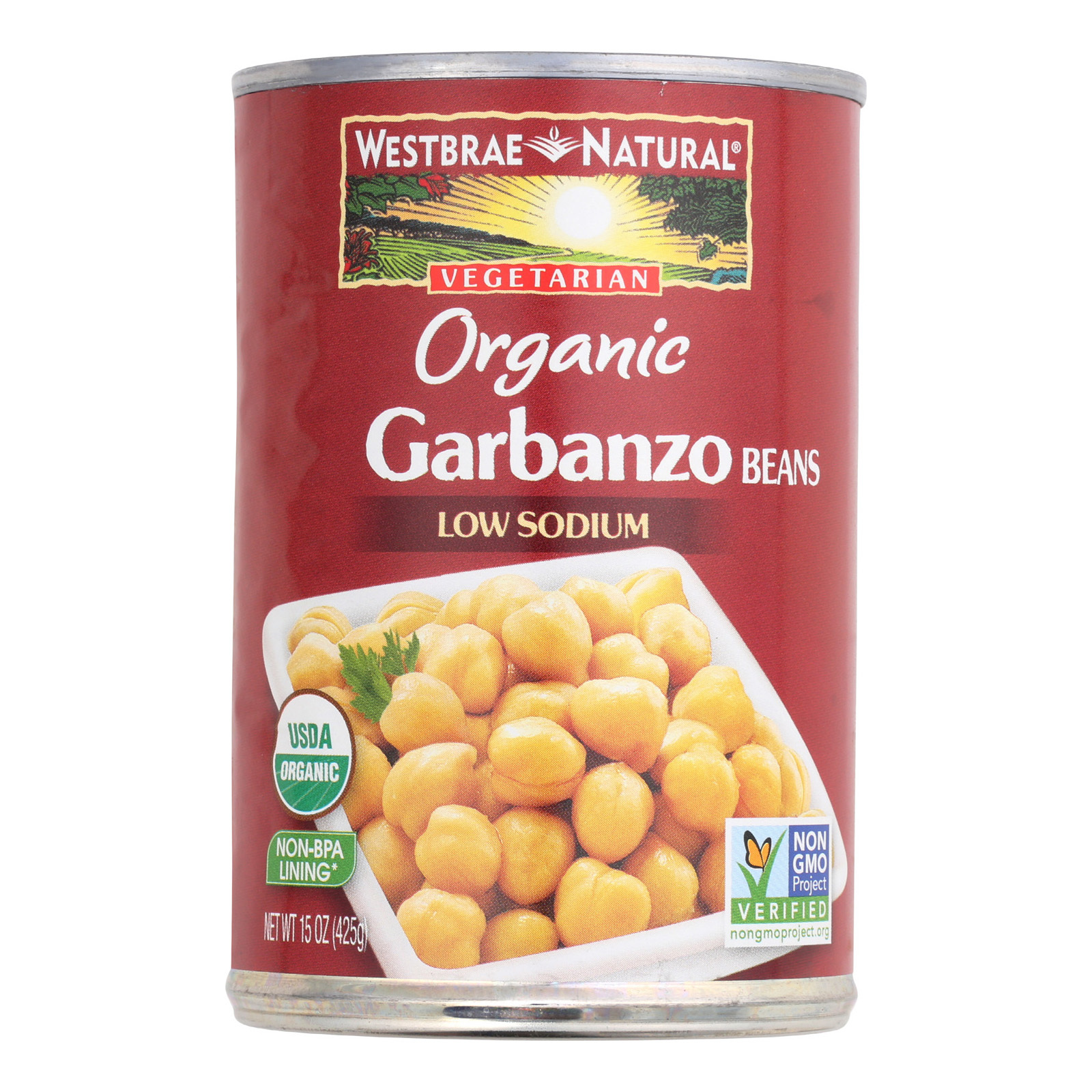 Westbrae Foods Organic Garbanzo Beans - Case of 12 - 15 oz.