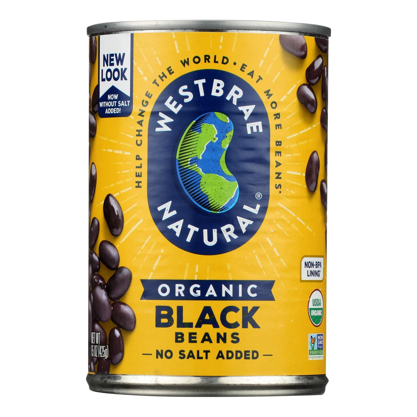 Westbrae Foods Organic Black Beans - Case of 12 - 15 oz.