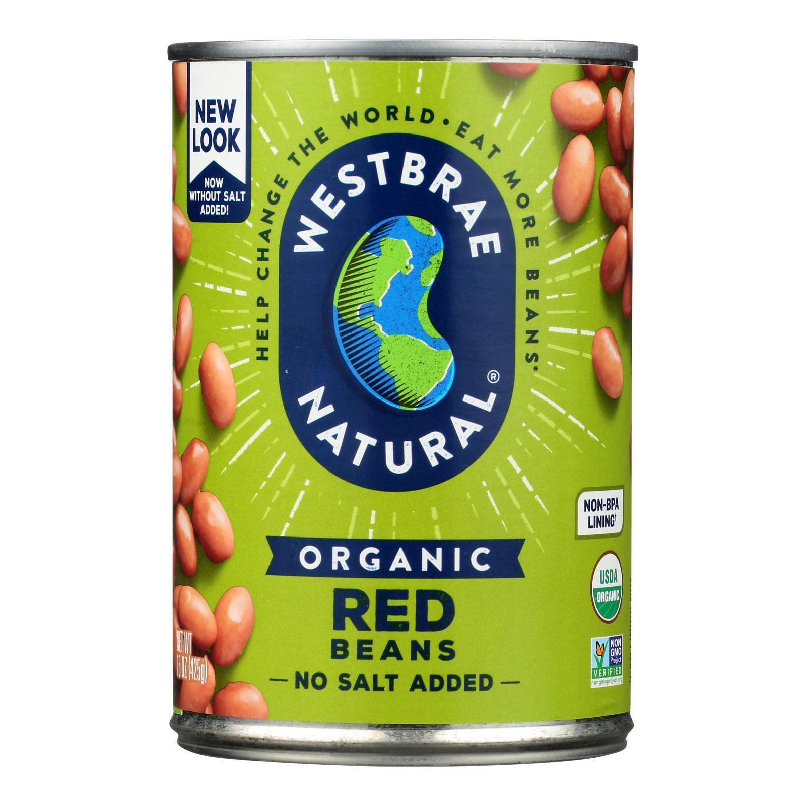 Westbrae Foods Organic Red Beans - Case of 12 - 15 oz.