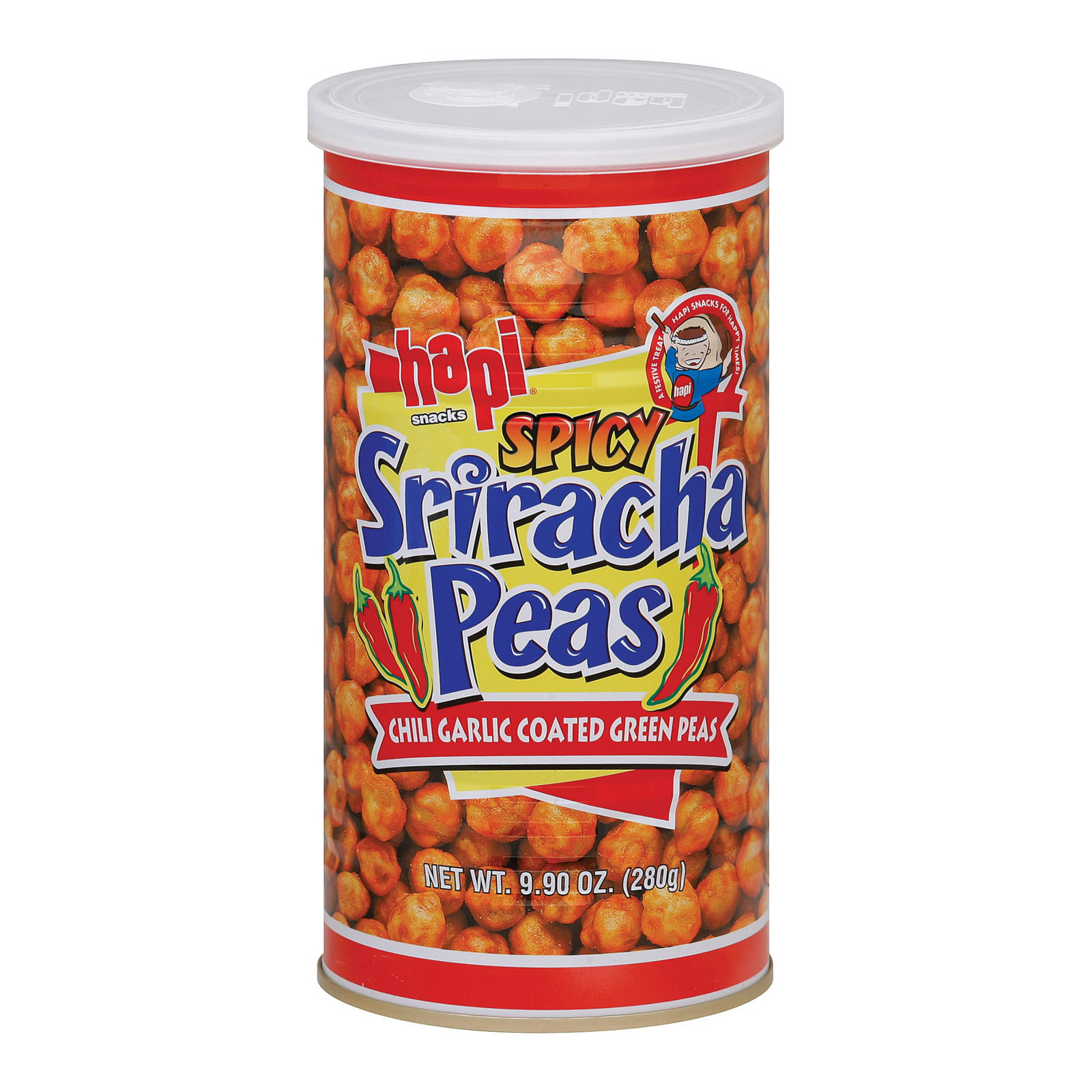 Hapi Sriracha Peas - Green Chili - Case of 12 - 9.9 oz