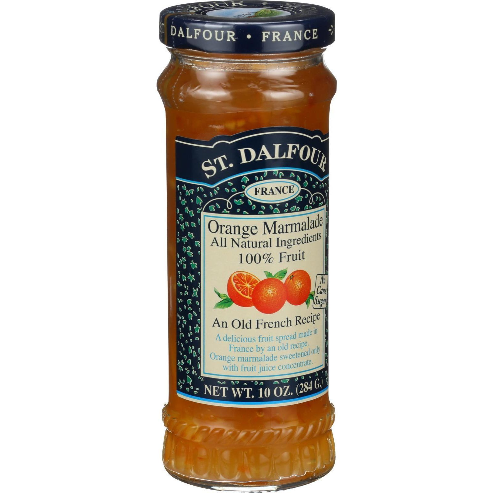 St Dalfour Fruit Spread - Deluxe - 100 Percent Fruit - Orange Marmalade - 10 oz - Case of 6