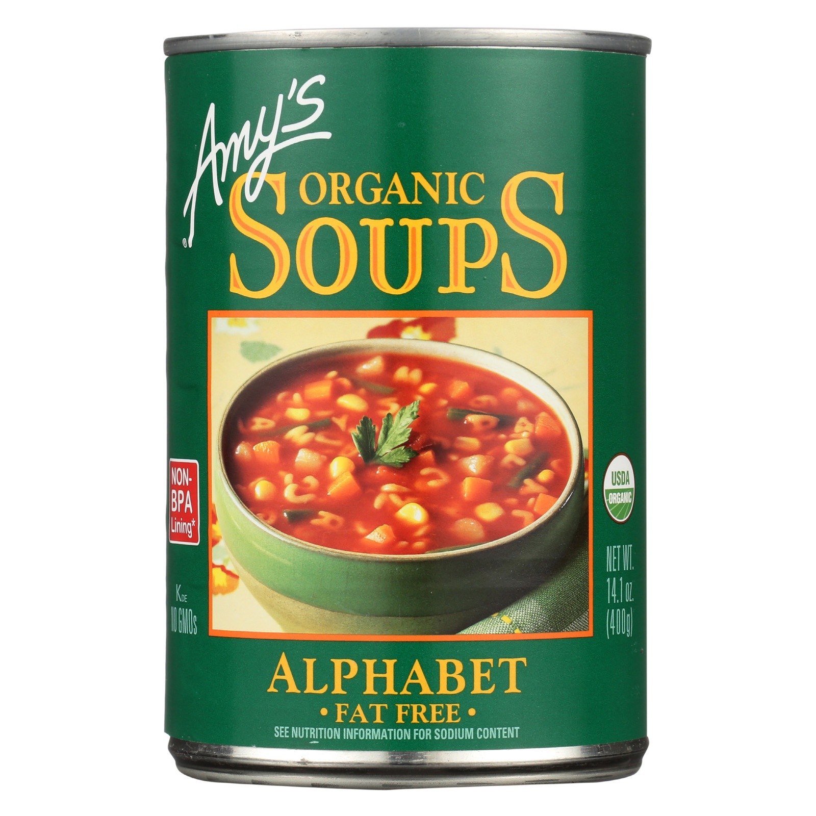 Amy's Organic Alphabet Soup - Case of 12 - 14.1 oz