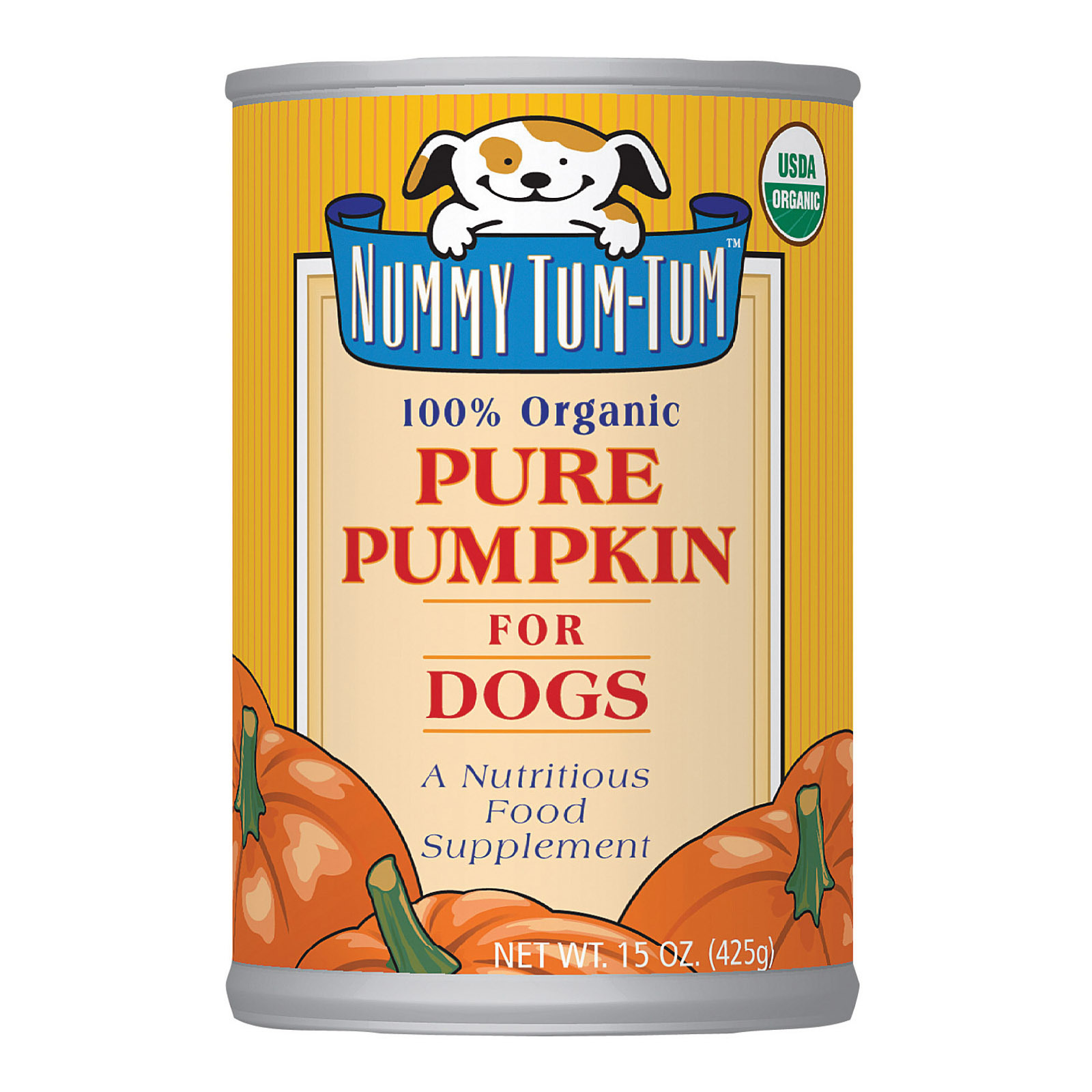 Nummy Tum-Tum Pure Pumpkin - Organic - Case of 12 - 15 oz.