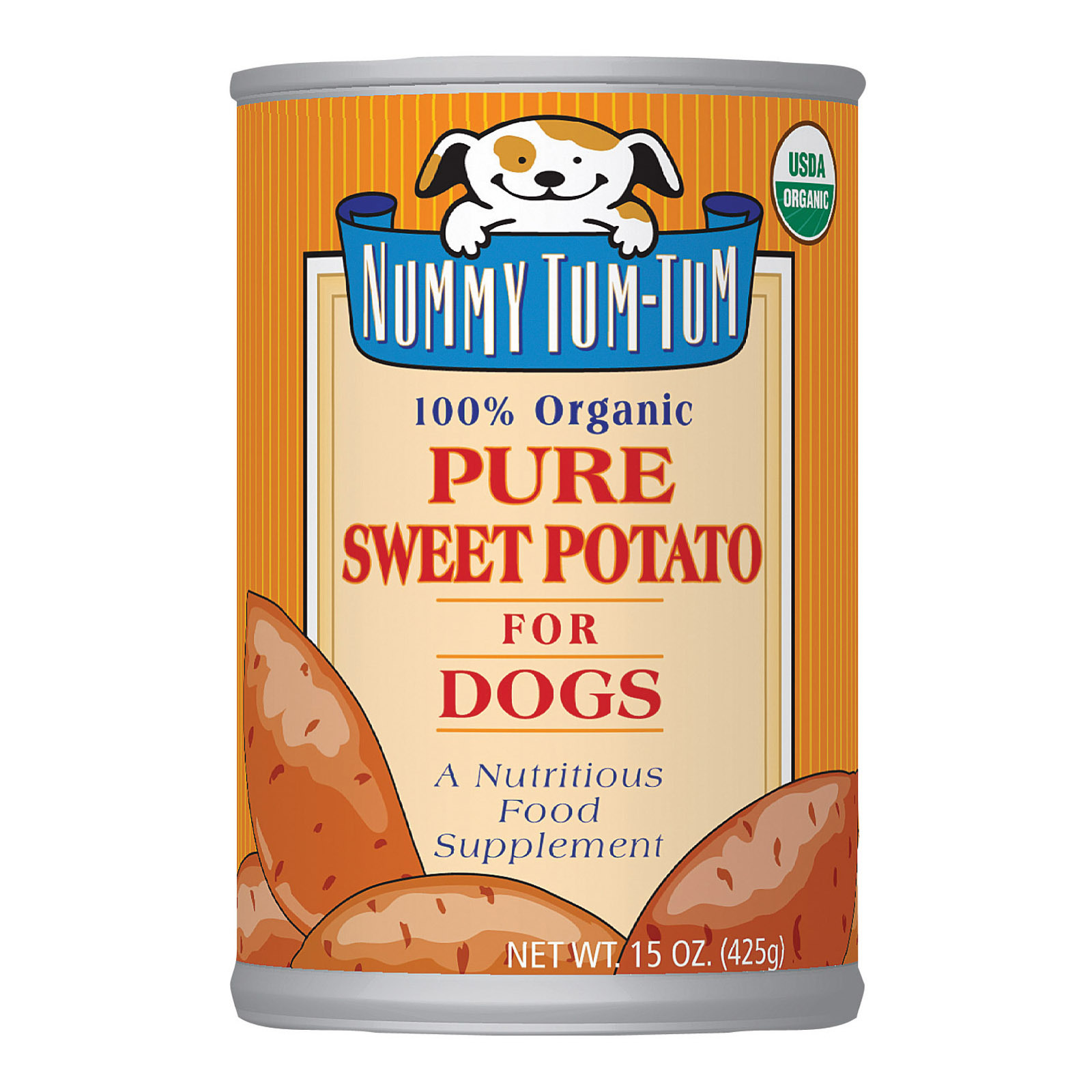 Nummy Tum-Tum Pure Sweet Potato - Organic - Case of 12 - 15 oz.