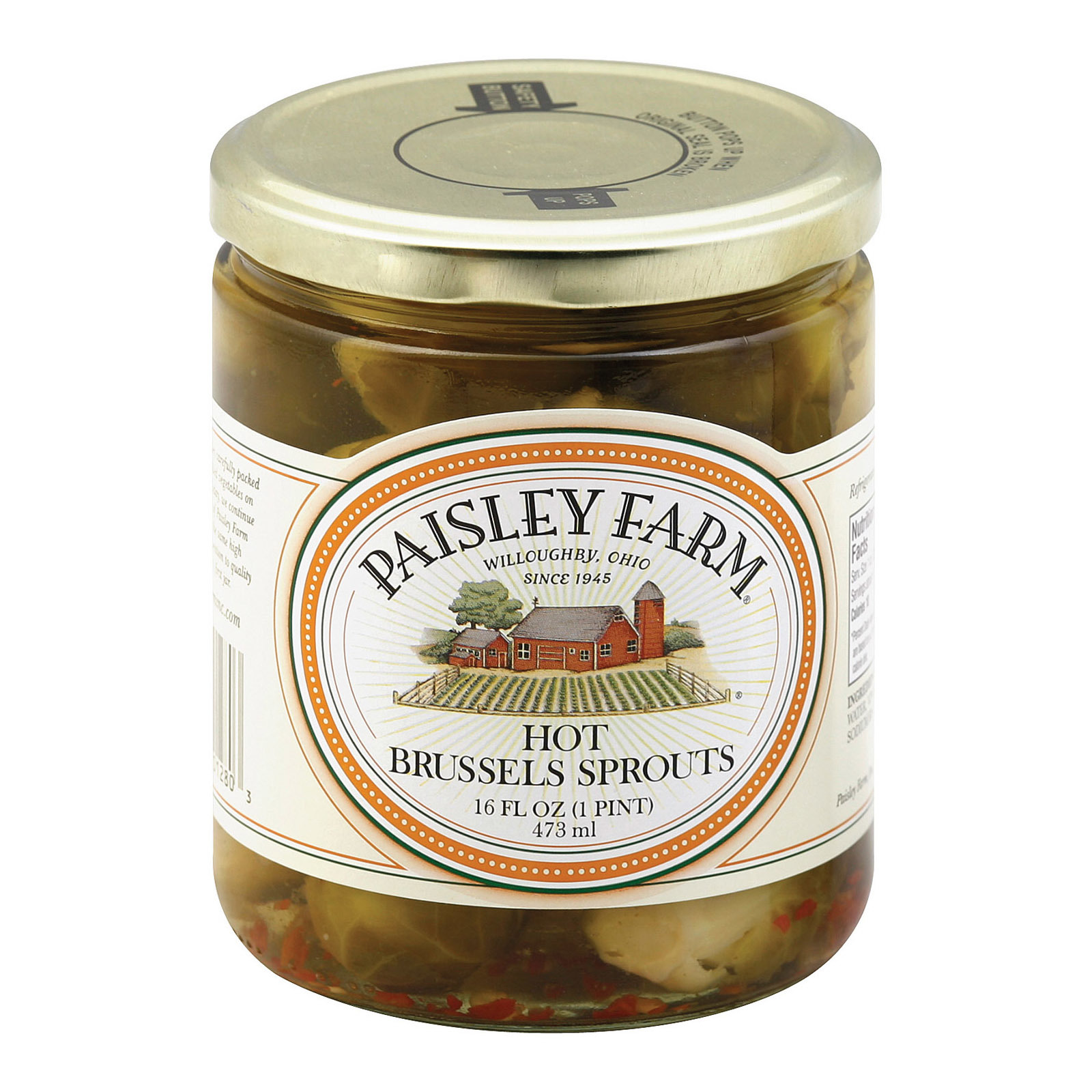 Paisley Farm Brussel Sprouts - Hot - Case of 12 - 16 oz