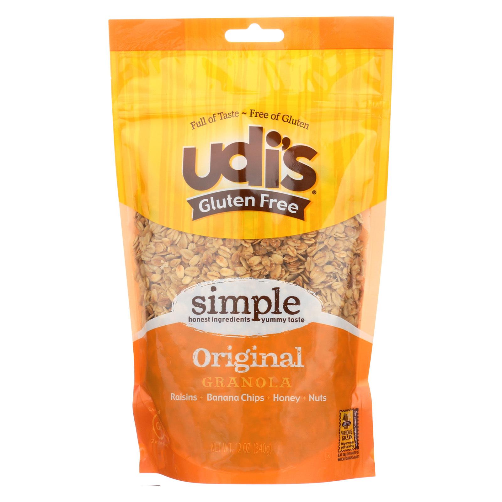 Udi's Granola - Gluten Free Original - Case of 6 - 12 oz.