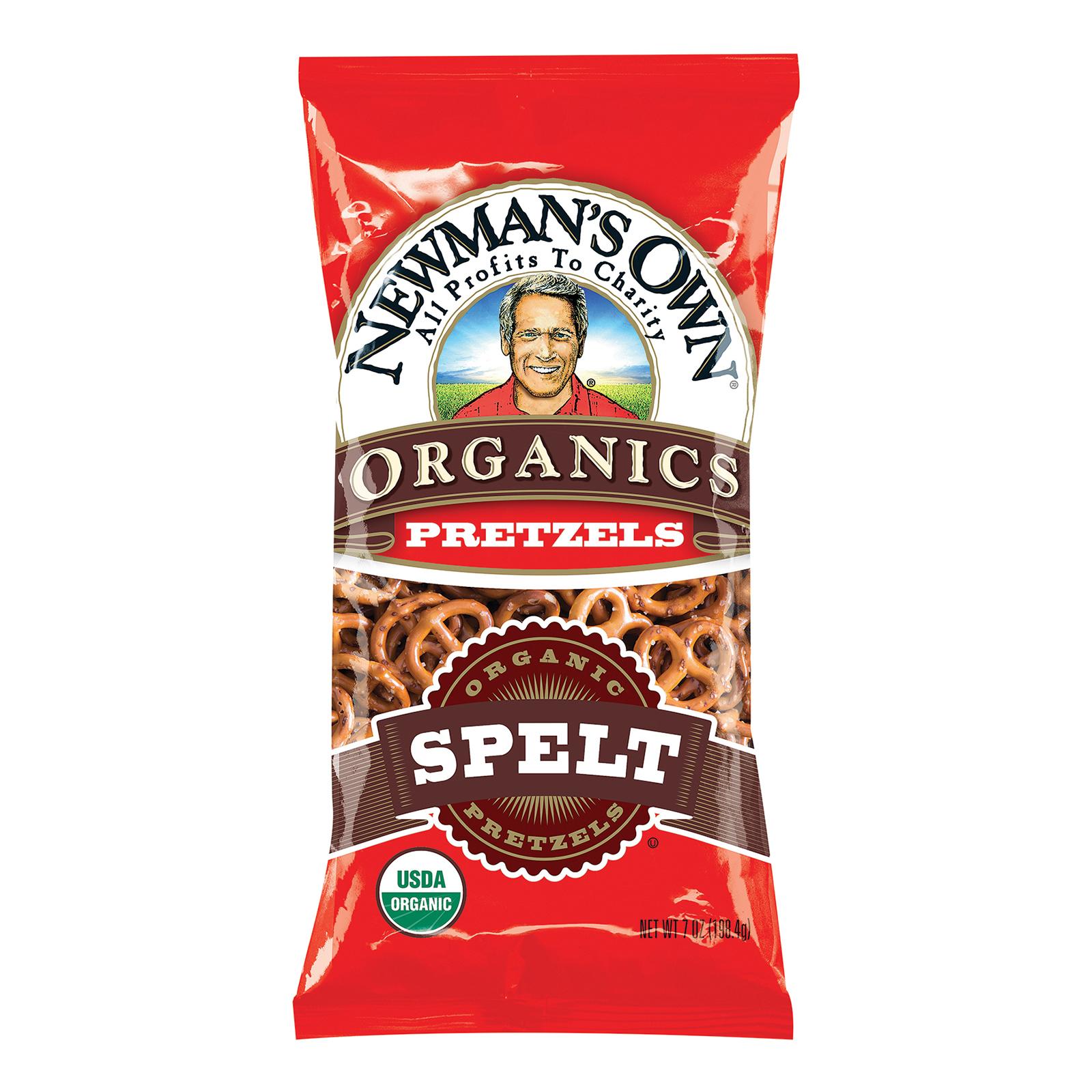 Newman's Own Organics Spelt Pretzels - Case of 12 - 7 oz.