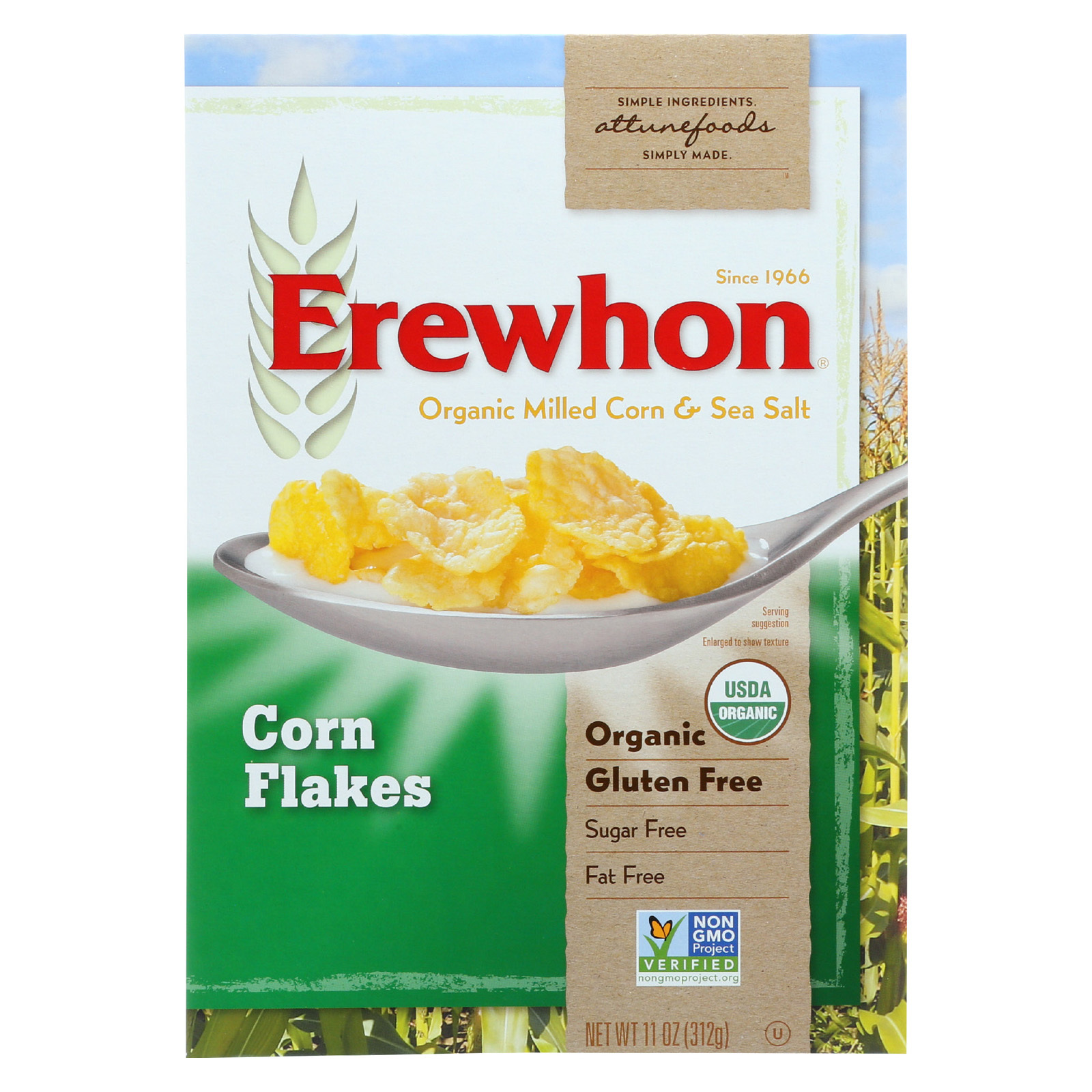 Erewhon Organic Cereal - Corn Flakes - 11 oz