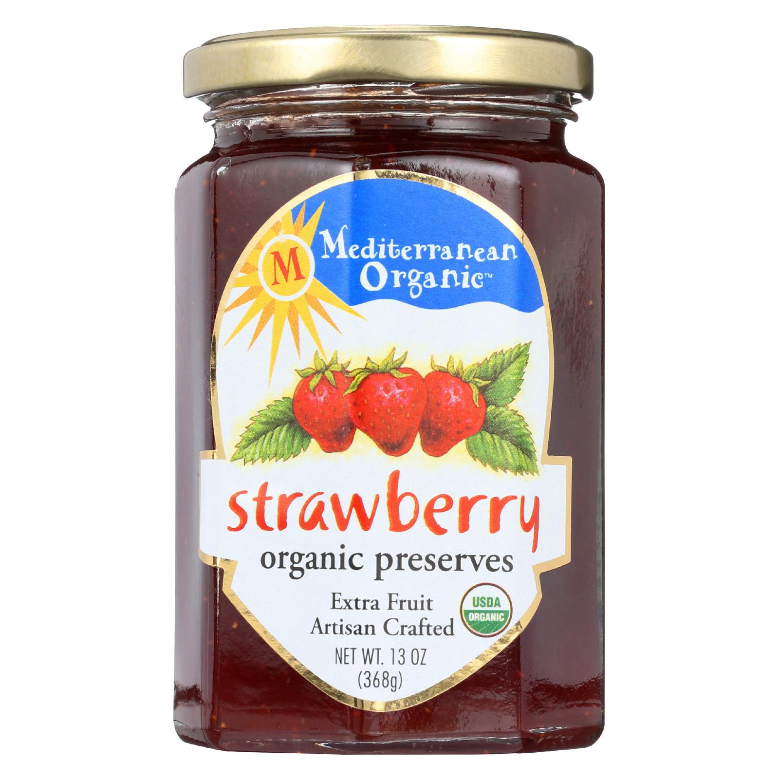 Mediterranean Organic Organic Preserves - Strawberry - 13 oz