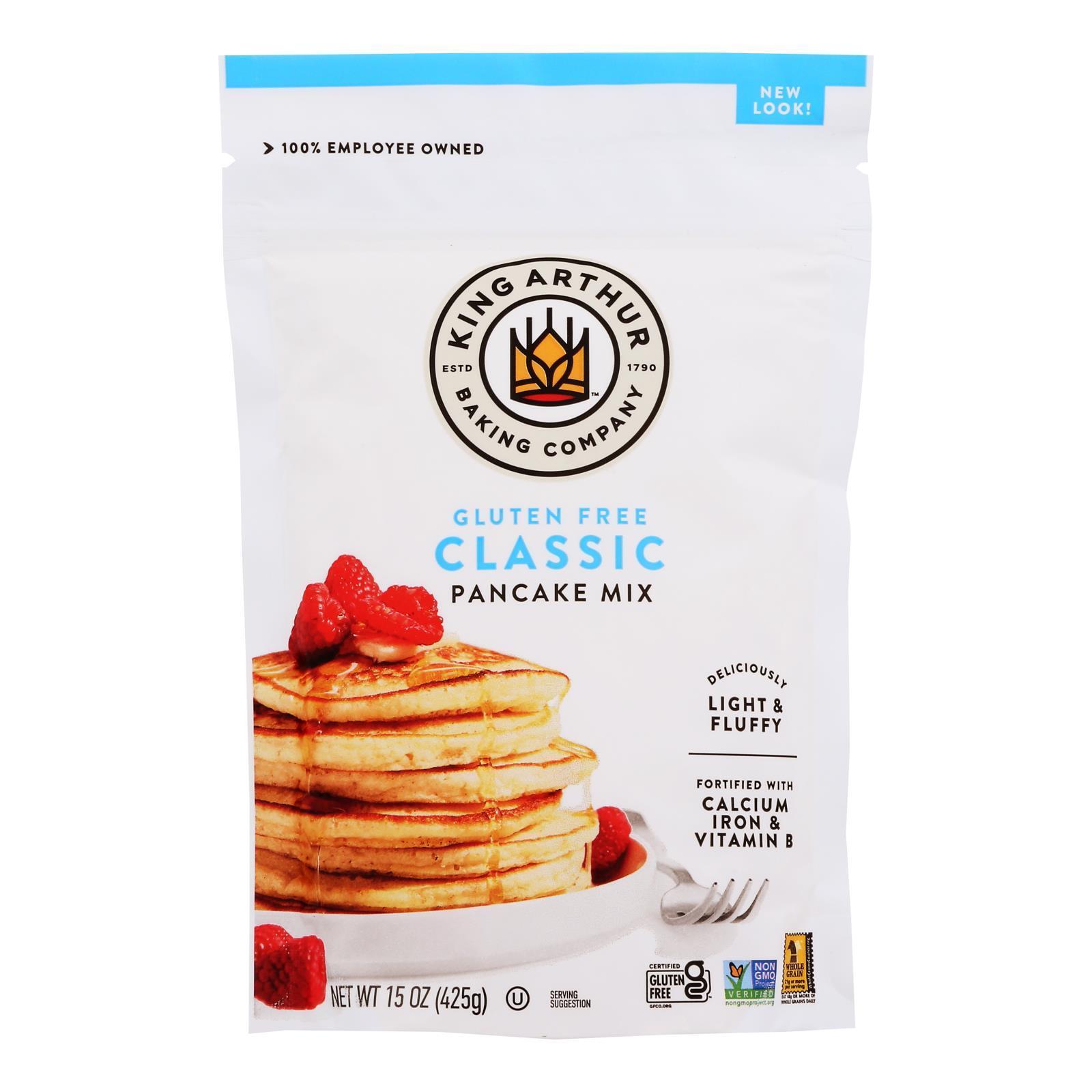 King Arthur Pancake Mix - Case of 6 - 15 oz.