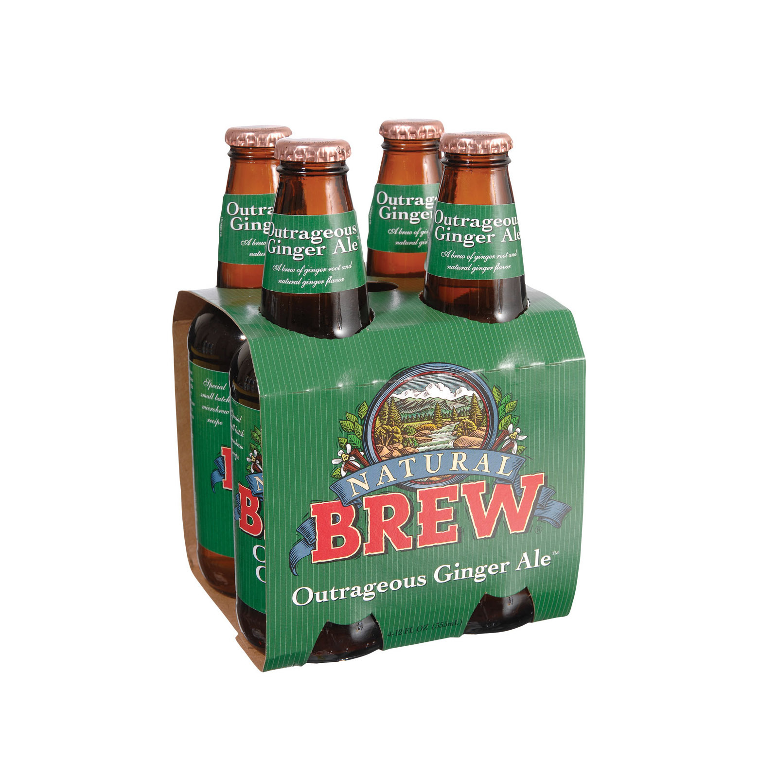 Natural Brew Soda Outrageous Ale - Ginger - Case of 6 - 12 Fl oz.