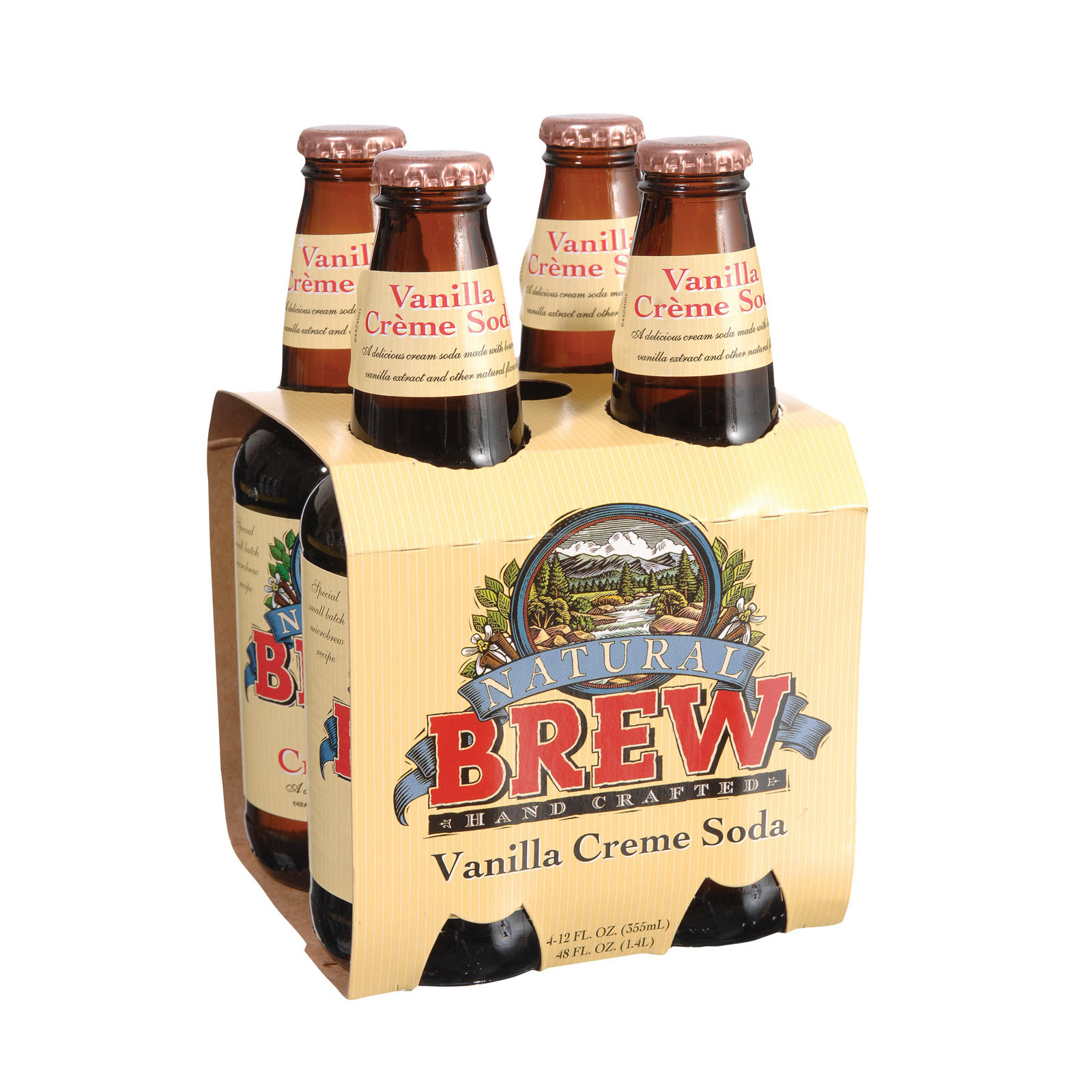 Natural Brew Soda Creme Soda - Vanilla - Case of 6 - 12 Fl oz.
