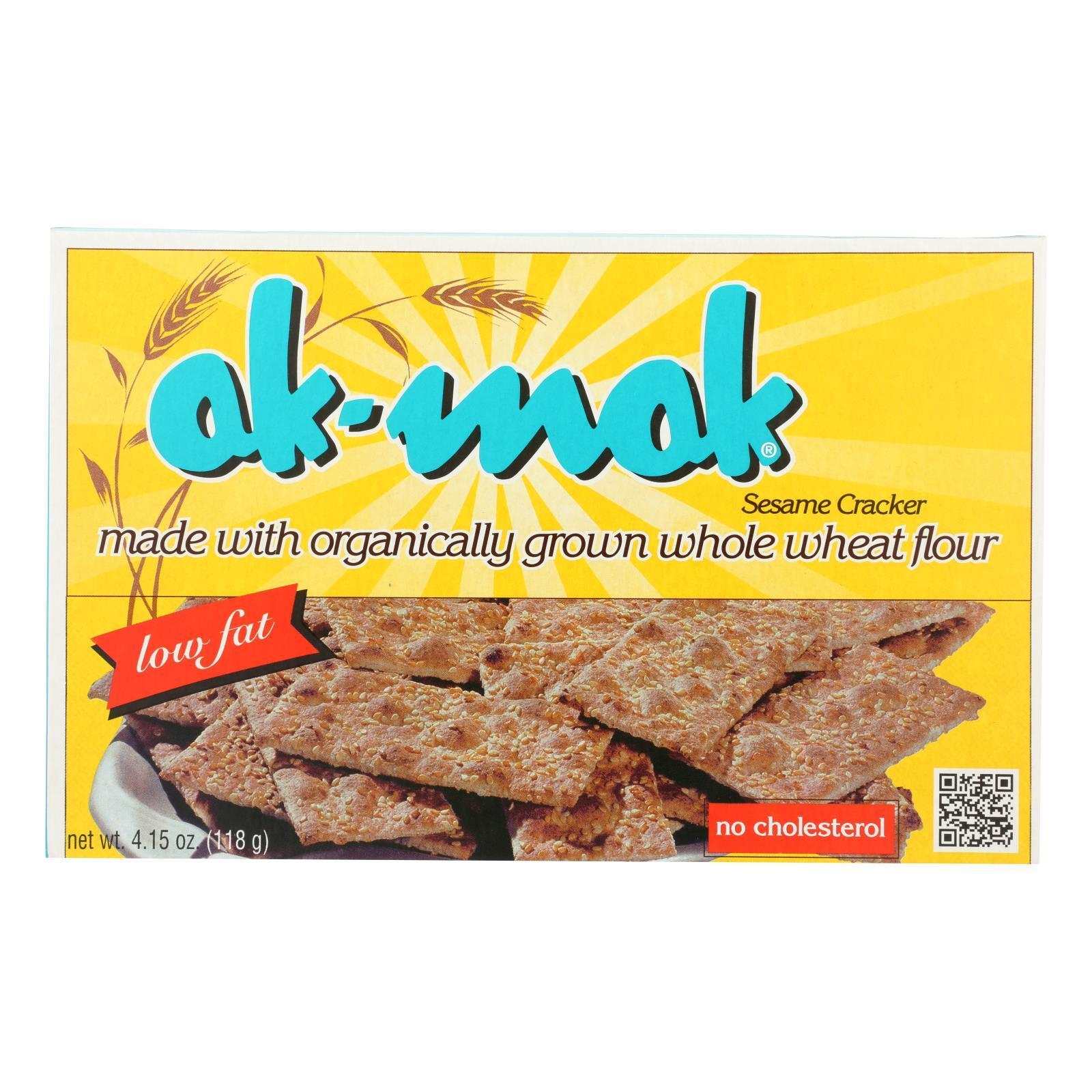 AK Mak Bakeries Armenian Bread - Sesame Crackers - Case of 12 - 4.15 oz.