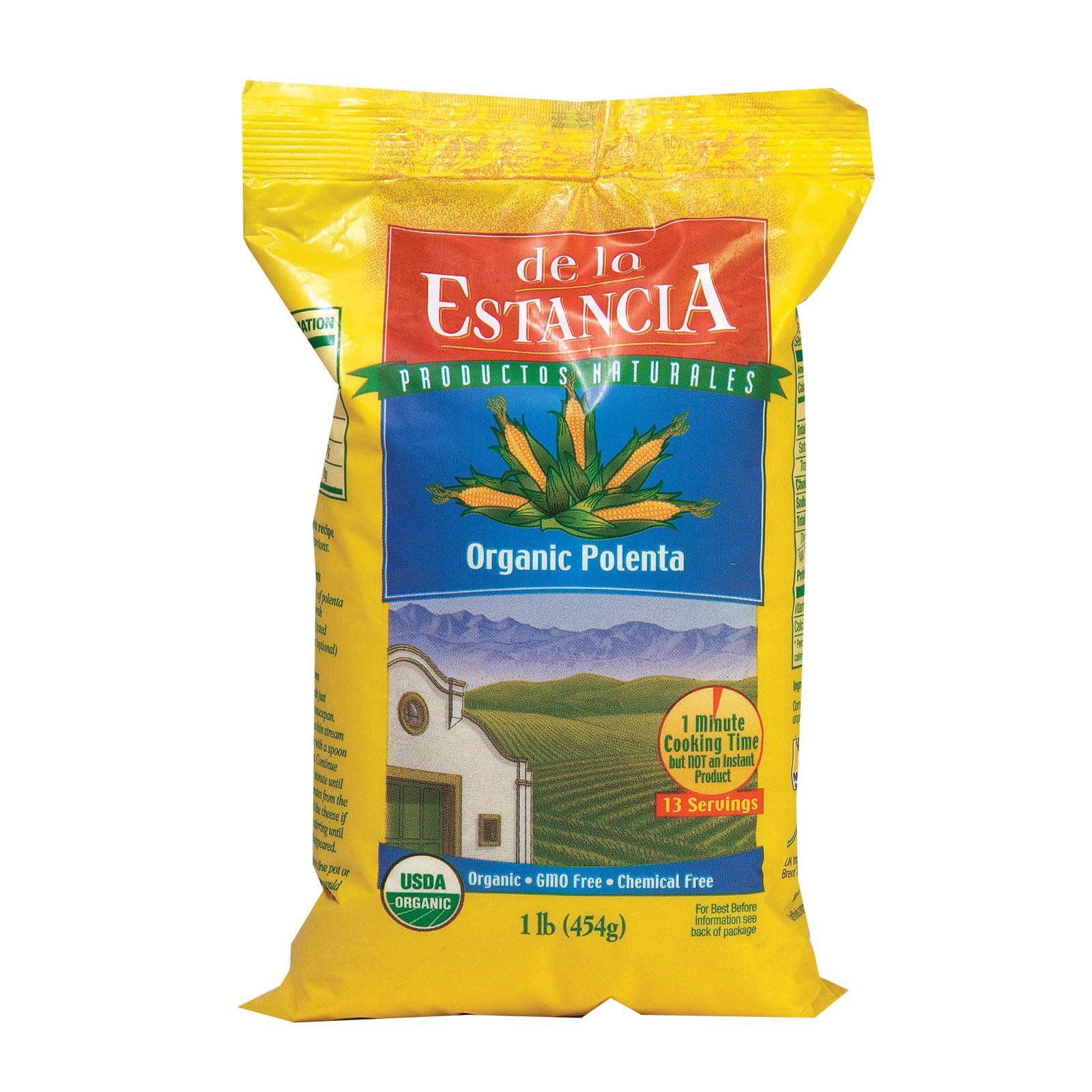 De La Estancia Organic Corn Meal Polenta - Case of 6 - 16 oz.
