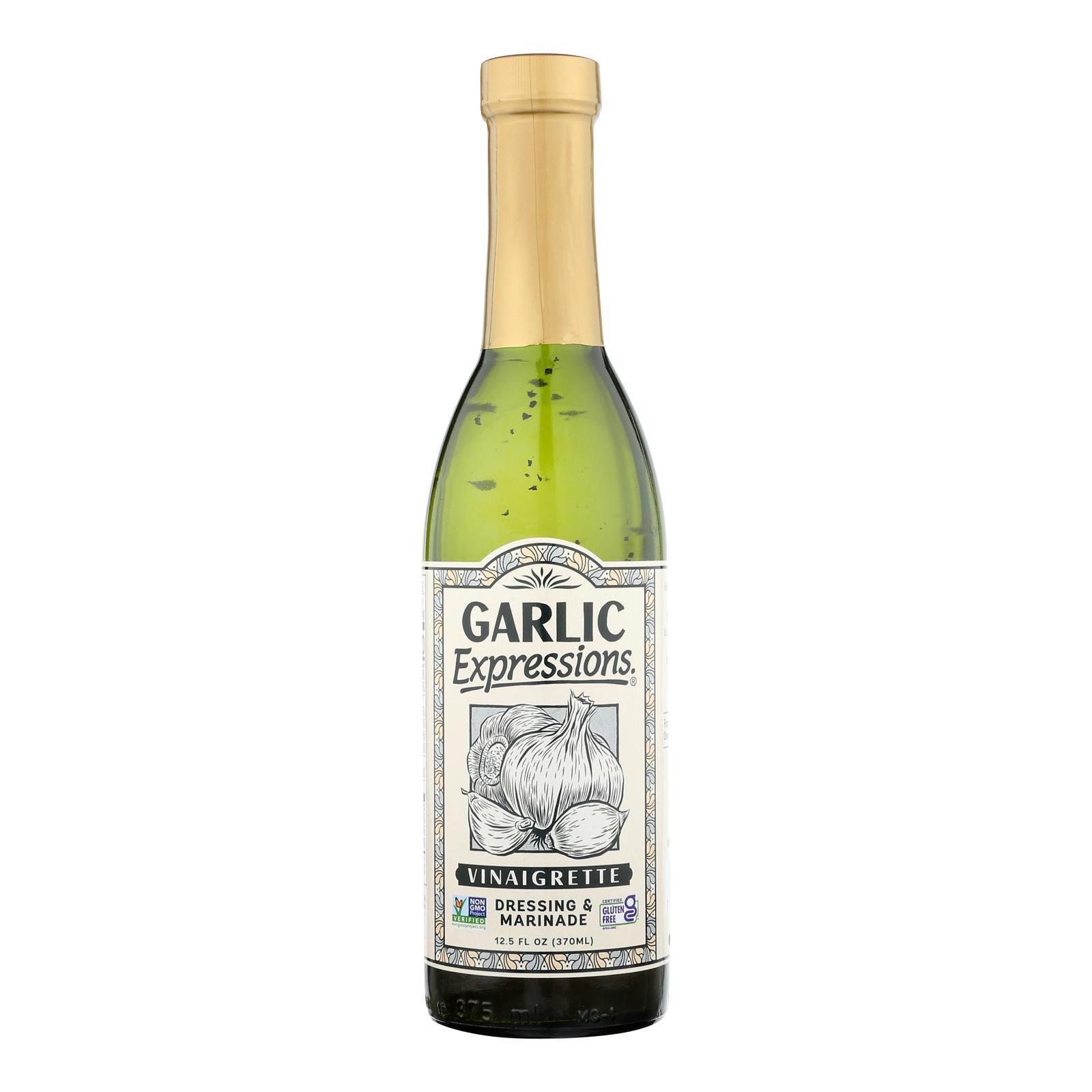 Garlic Expressions Salad Dressing - Vinaigrete - Case of 12 - 12.5 oz