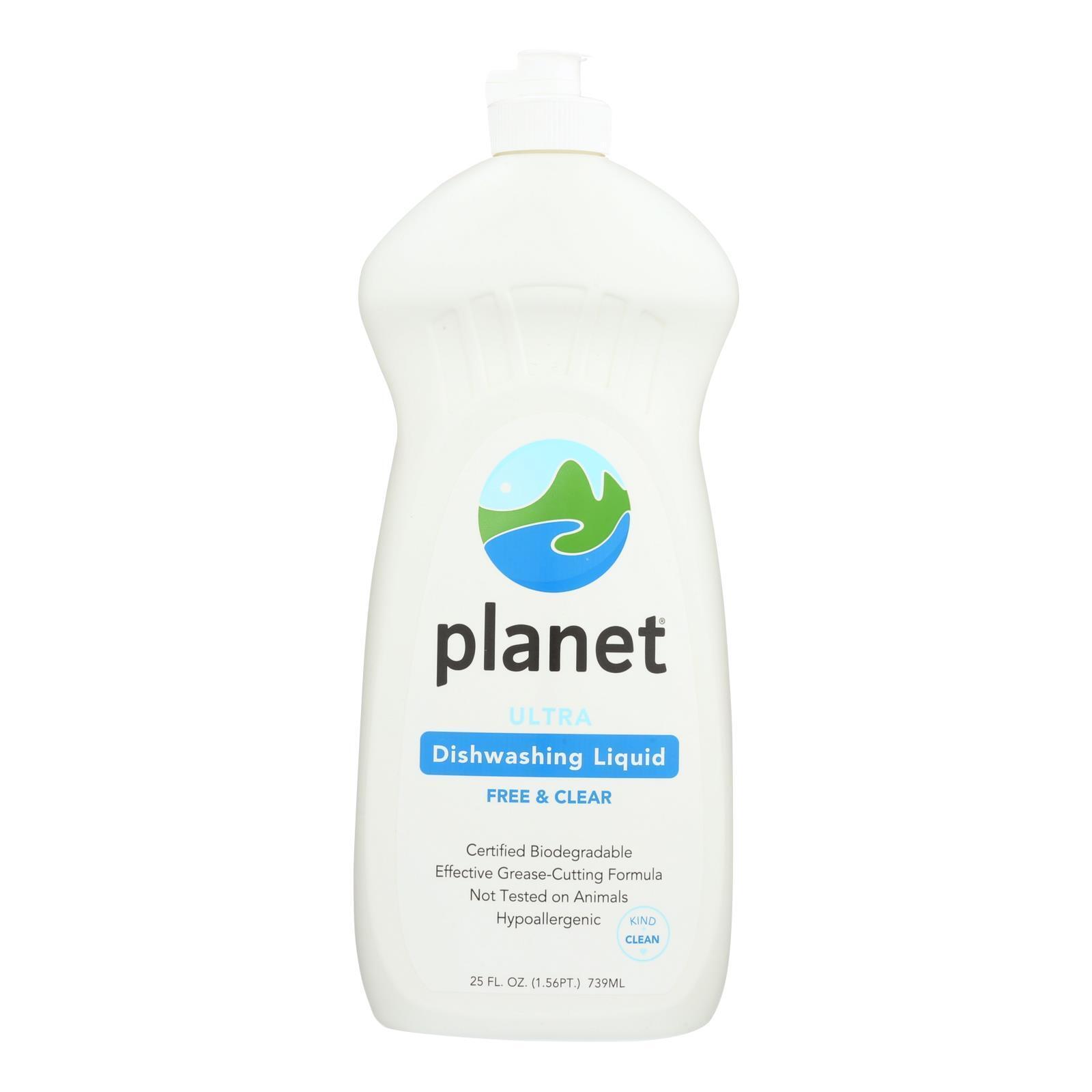 Planet Dishwashing Liquid - Ultra - Case of 12 - 25 Fl oz.
