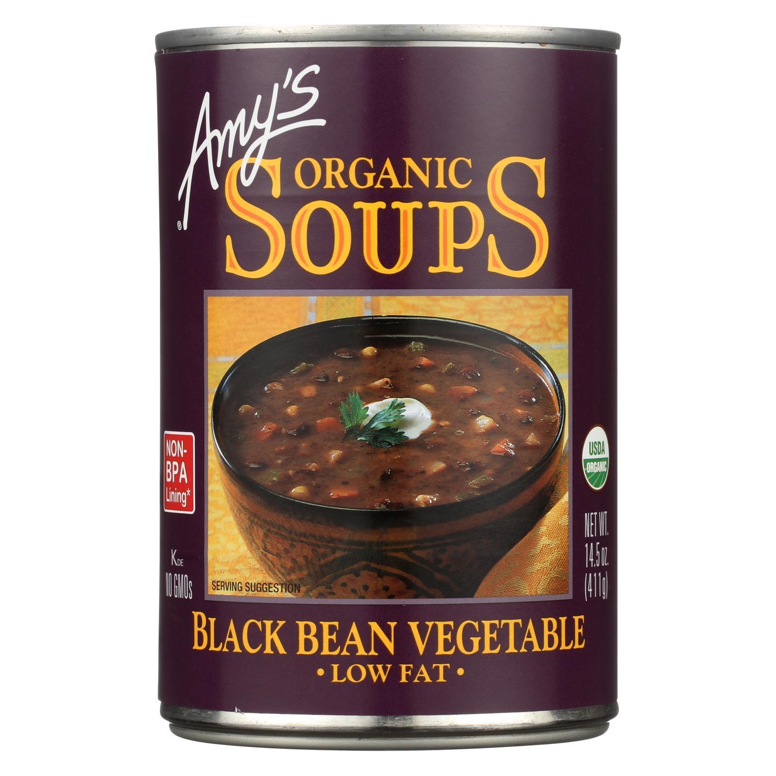 Amy's Soup Black Bean Vegetable - Case of 14.5 - 14.5 oz.