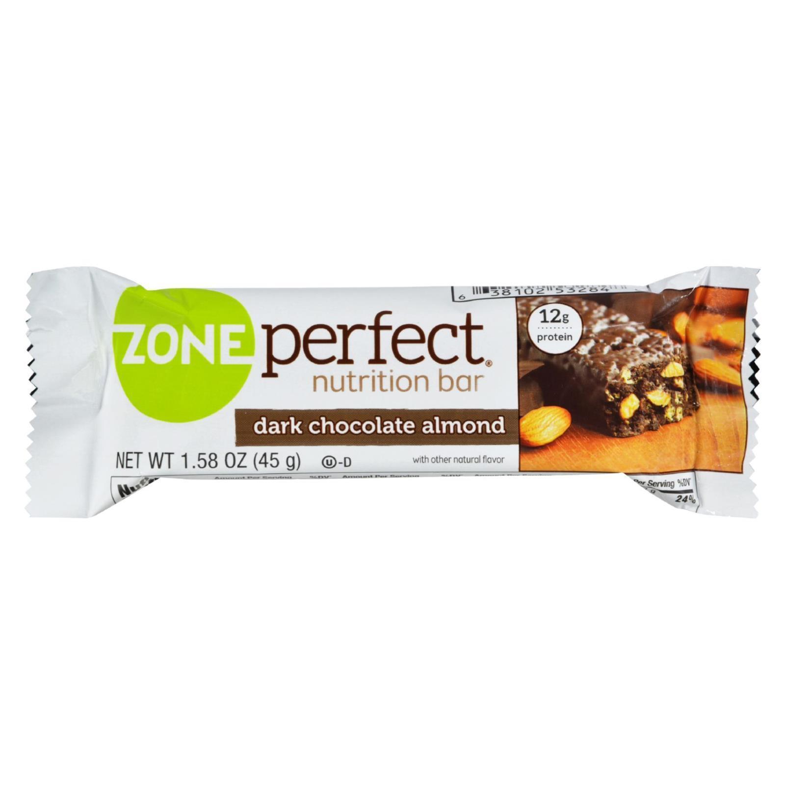 Zone Nutrition Bar - Dark Chocolate Almond - Case of 12 - 1.58 oz