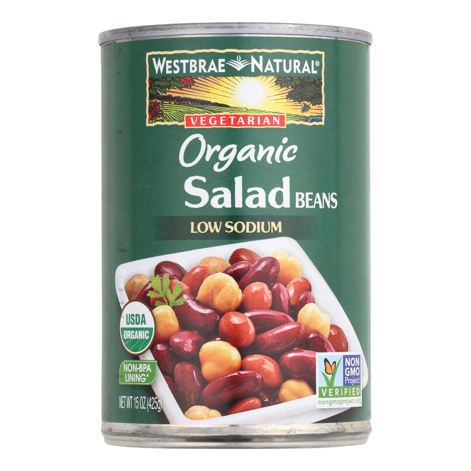 Westbrae Foods Organic Salad Beans - Case of 12 - 15 oz.