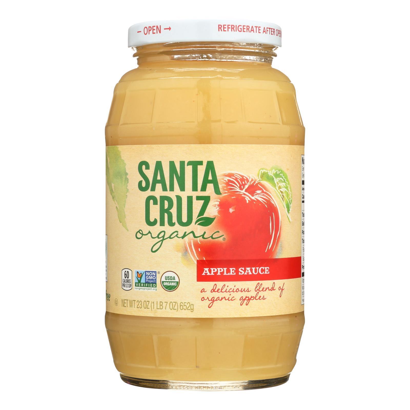 Santa Cruz Organic Apple Sauce - Case of 12 - 23 oz.