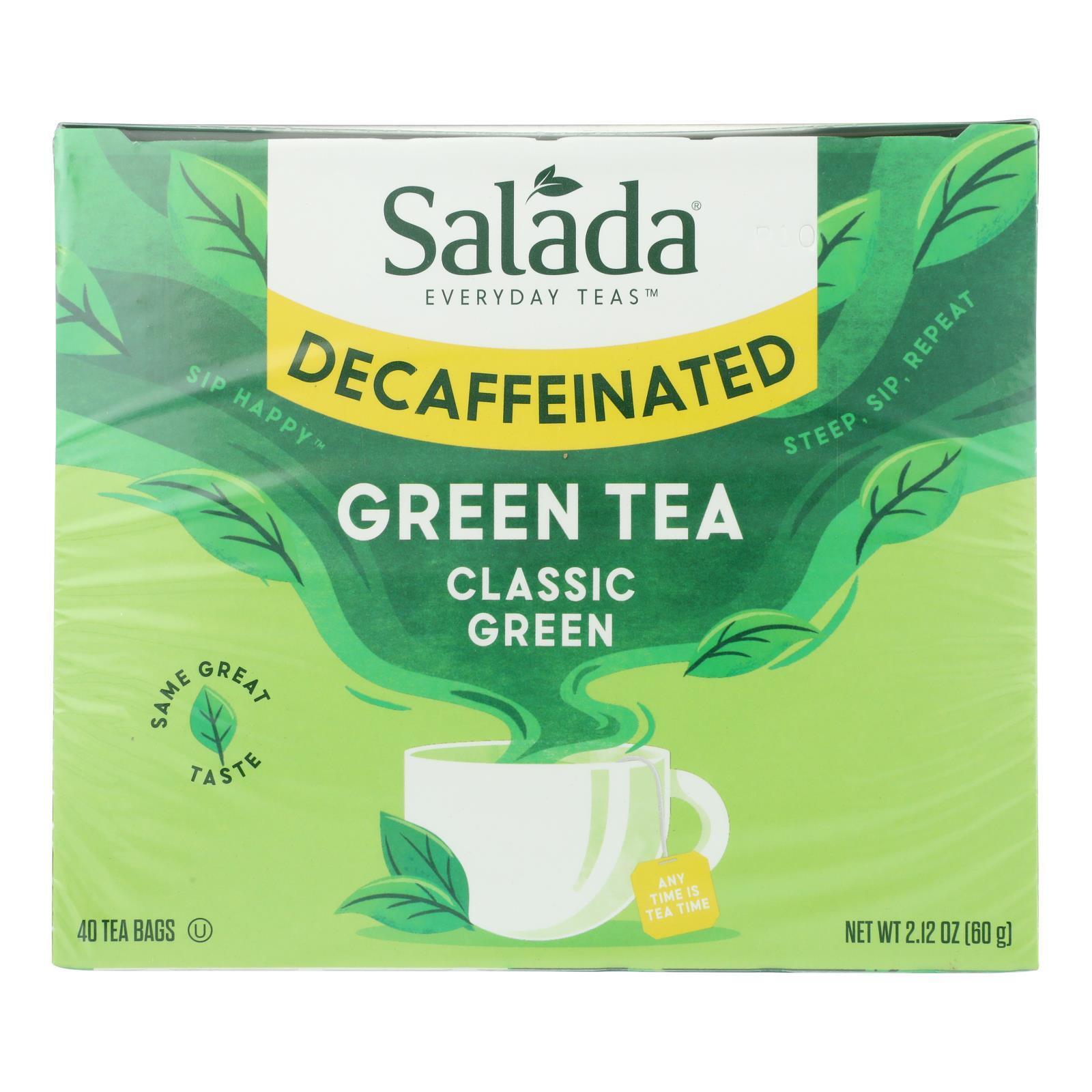 Salada Tea Green Tea - Decaffeinated Serenity - Case of 6 - 40 Count