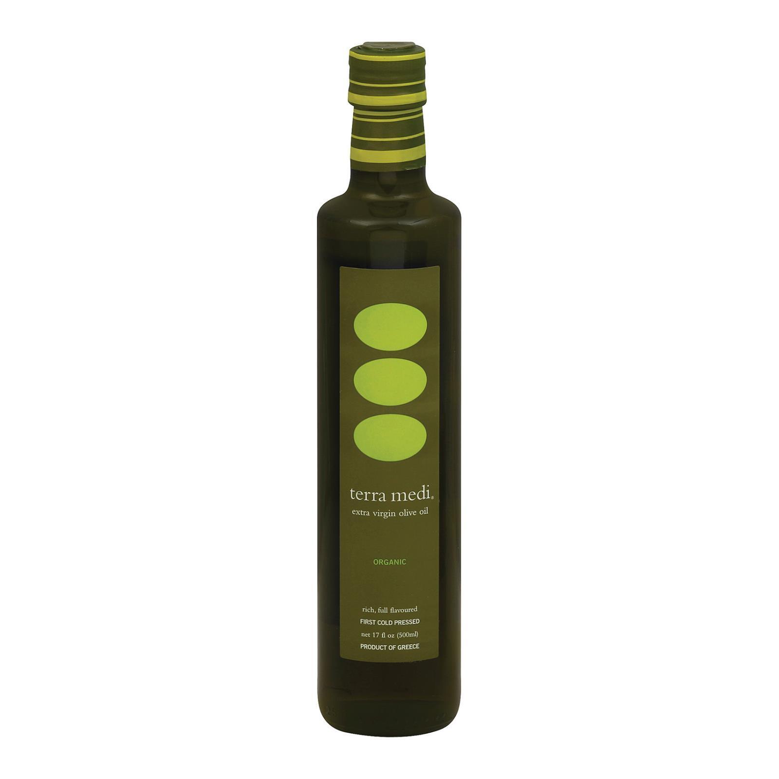 Terra Medi Olive Oil - Extra Virgin Medium - Case of 6 - 17 Fl oz.