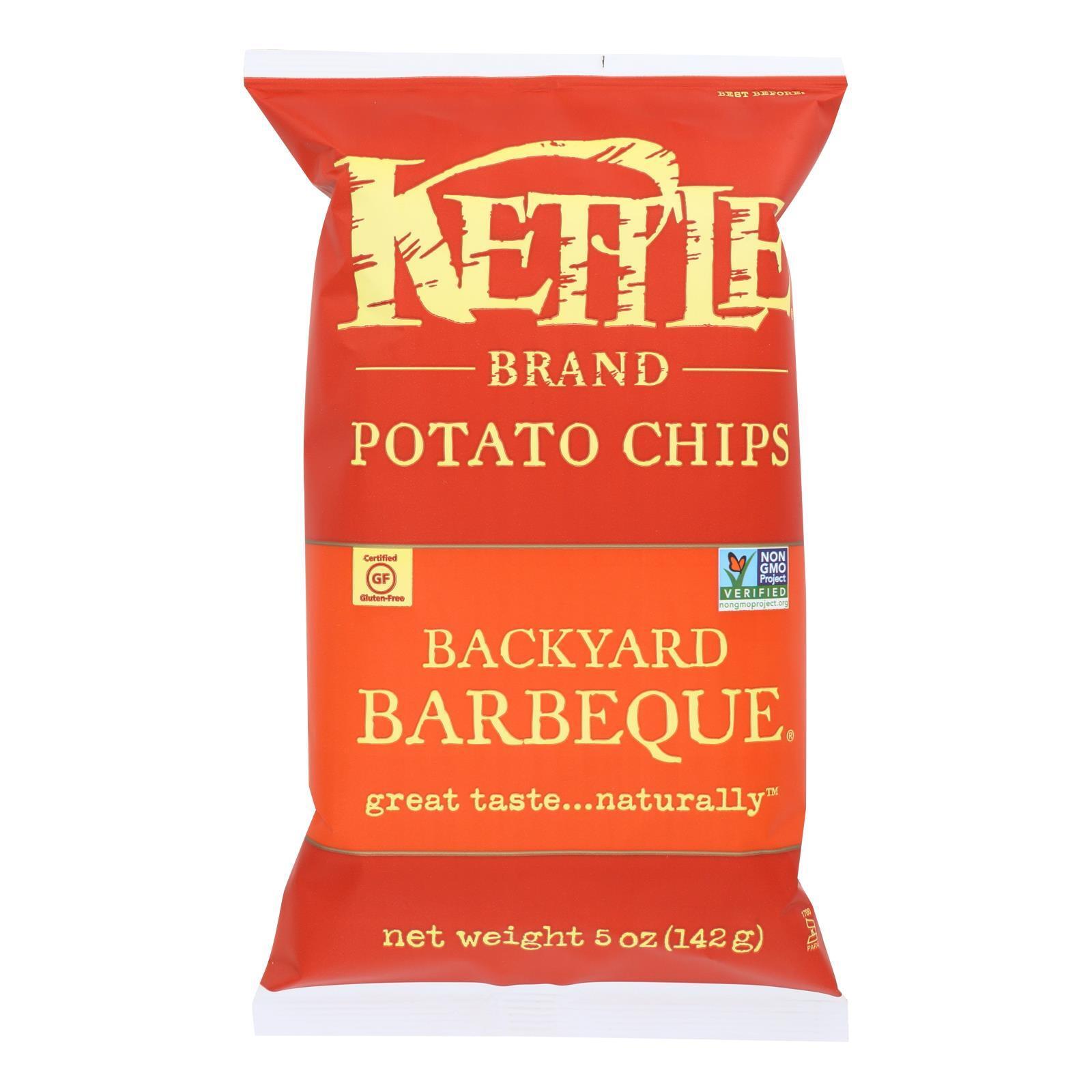 Kettle Brand Potato Chips - Backyard Barbeque - Case of 15 - 5 oz.