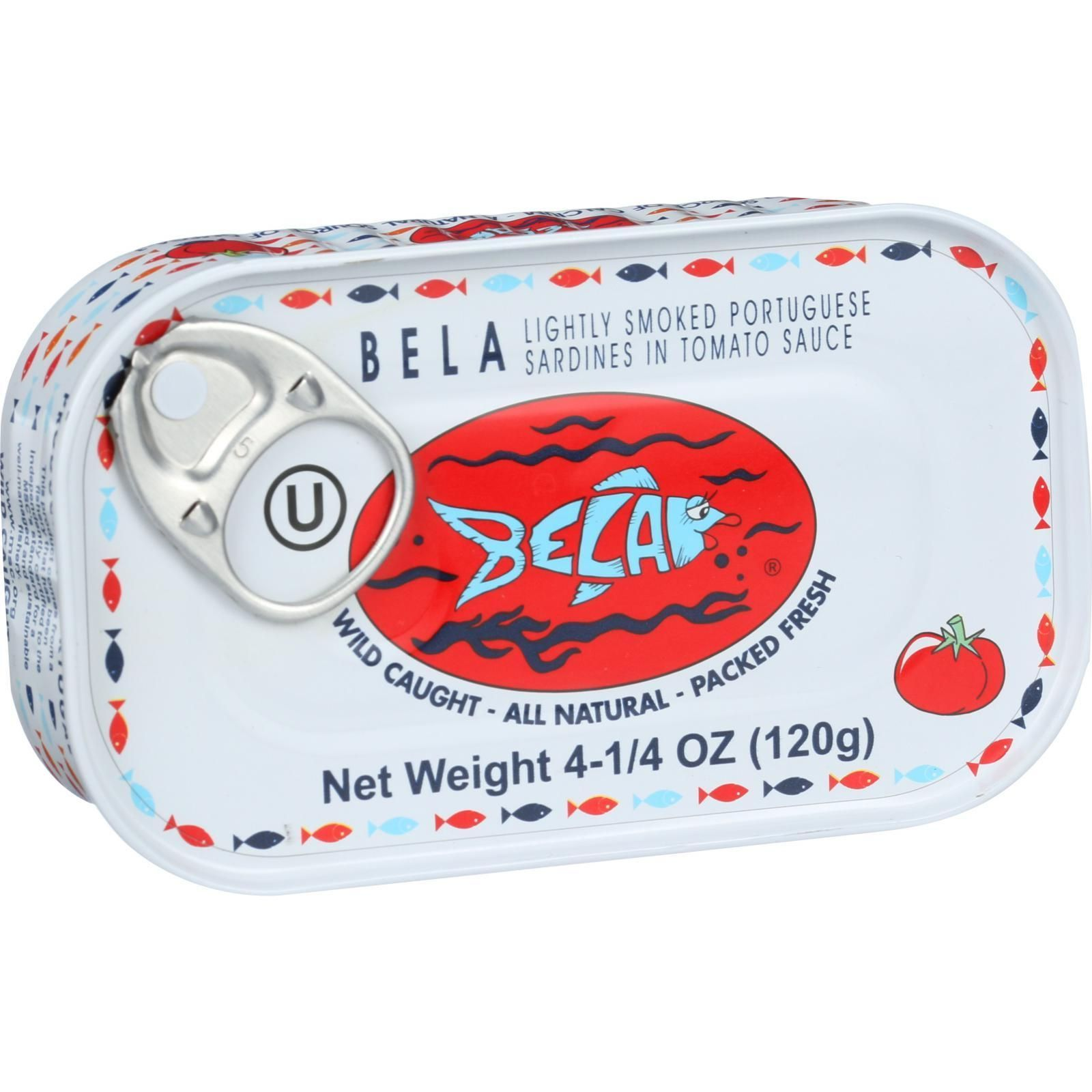Bela-Olhao Sardines in Tomato Sauce - 4.25 oz - Case of 12