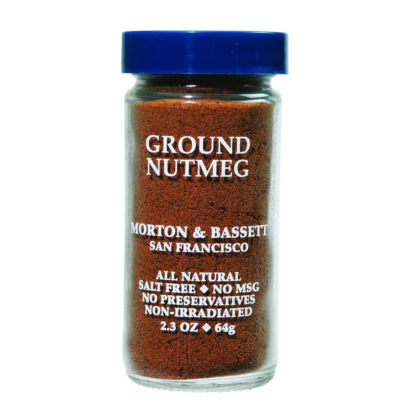 Morton and Bassett Seasoning - Nutmeg - Ground - 2.3 oz - Case of 3
