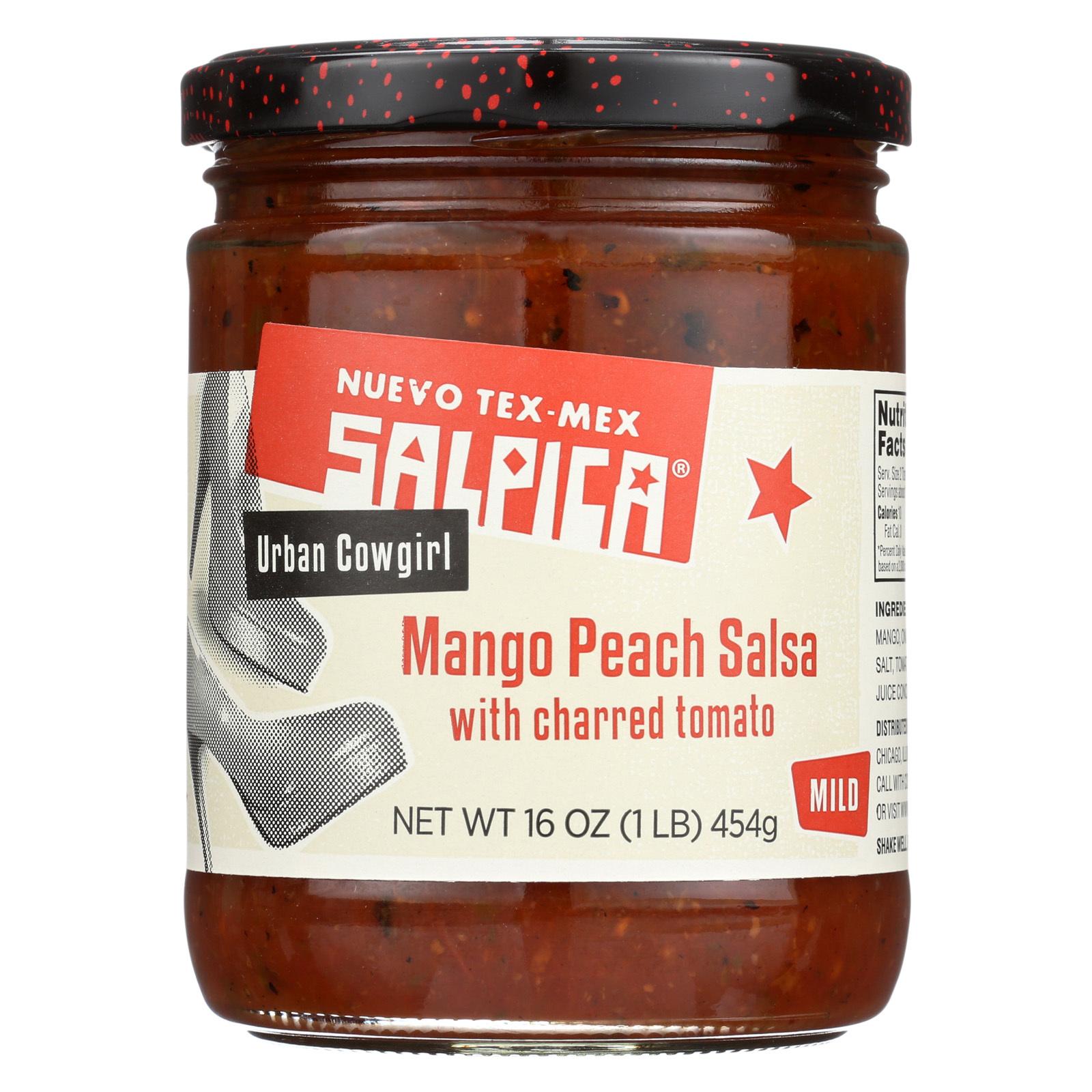 Salpica Salsas Dip - Mango Peach - Case of 6 - 16 oz.
