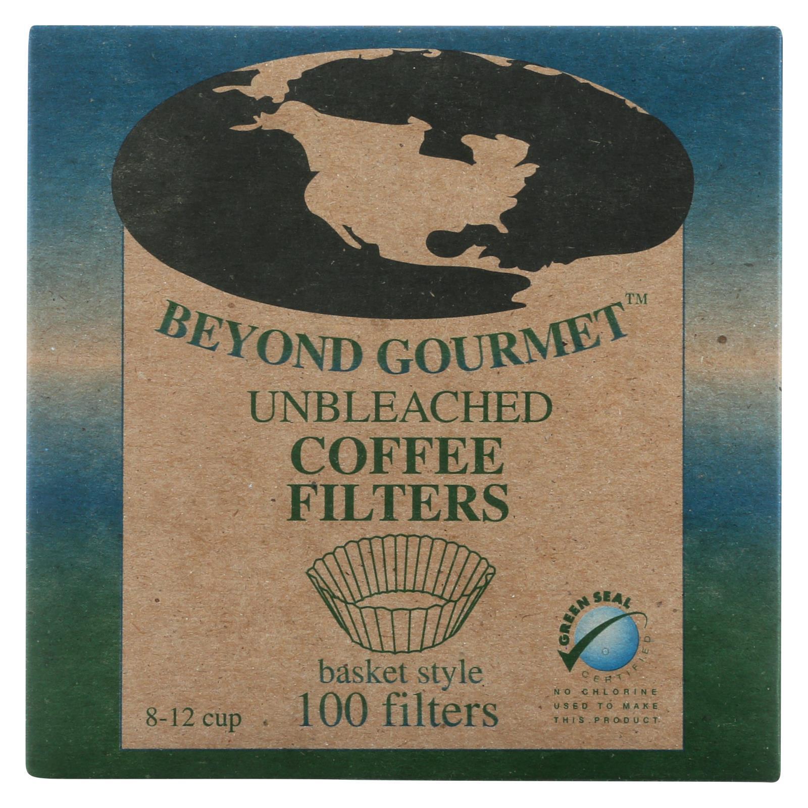 Beyond Gourmet Coffee Filters - Basket - Unbleached - 100 Count