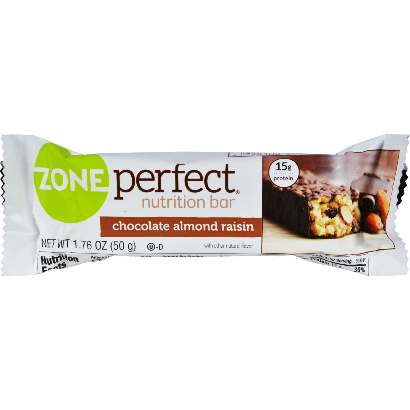 Zone Nutrition Bar - Chocolate Almond Raisin - Case of 12 - 1.76 oz