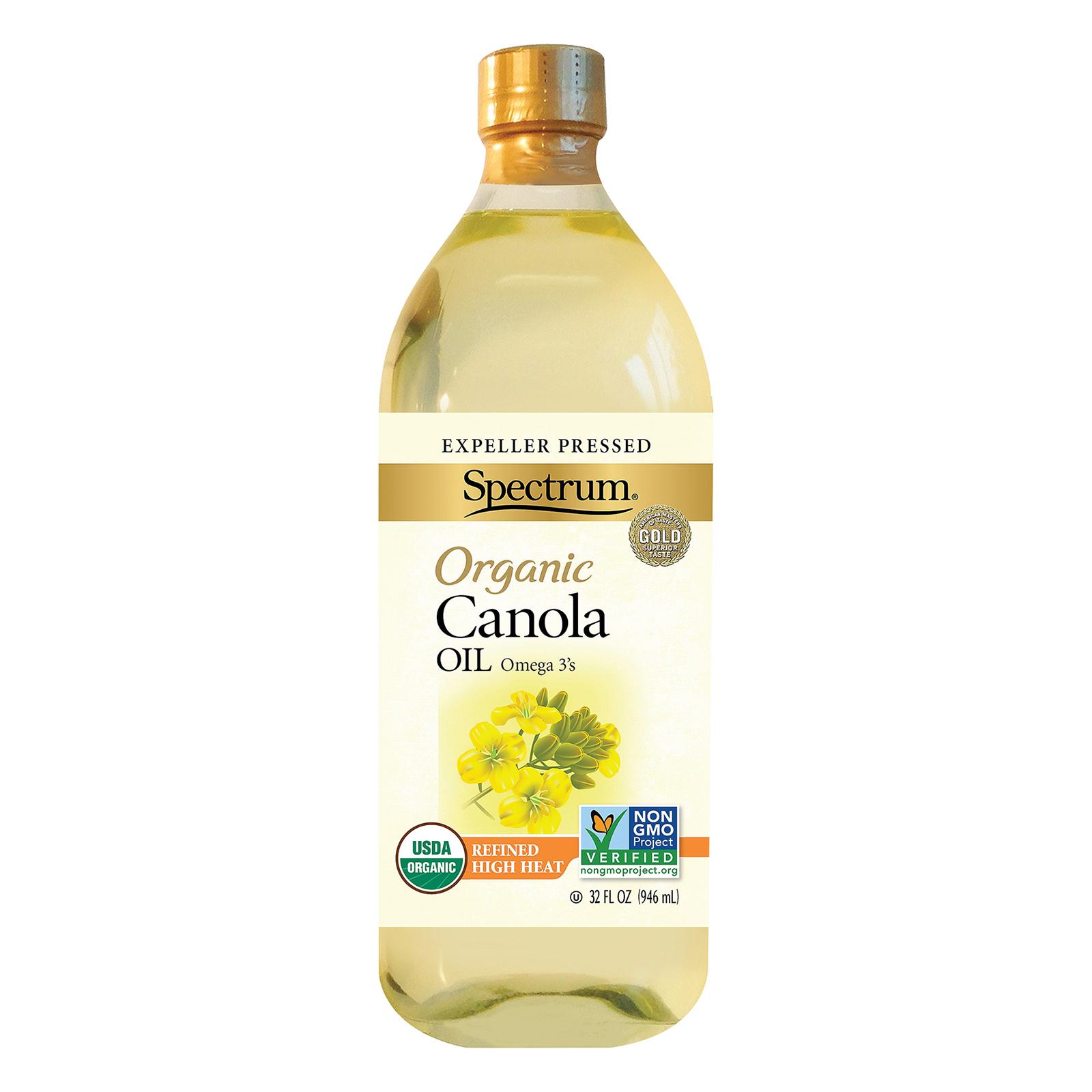 Spectrum Naturals Organic Refined Canola Oil - Case of 6 - 32 Fl oz.
