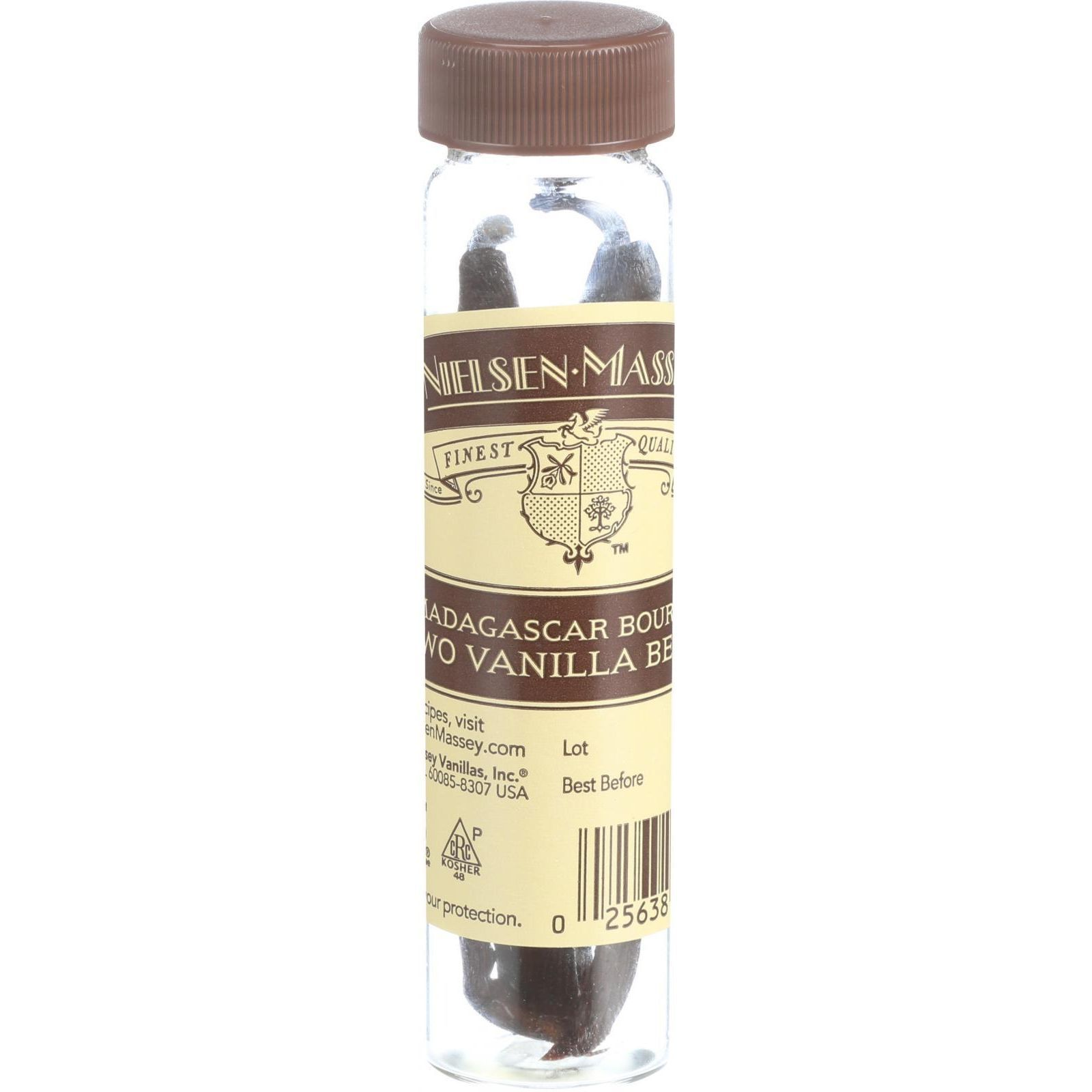 Nielsen-Massey Whole Vanilla Beans - Madagascar Boubon - 2 Count
