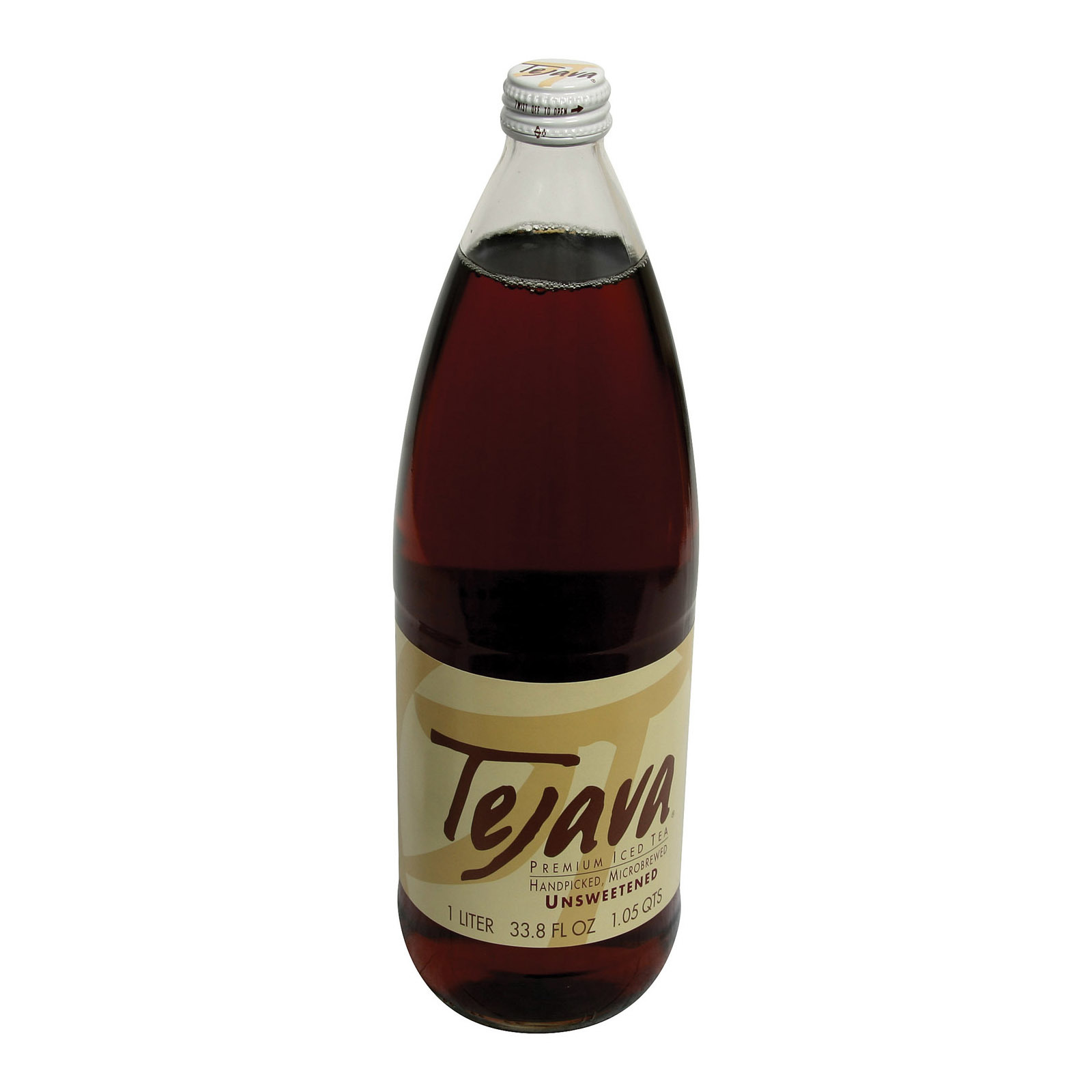 Tejava Black Tea - Unsweetened - Case of 12 - 1 Liter