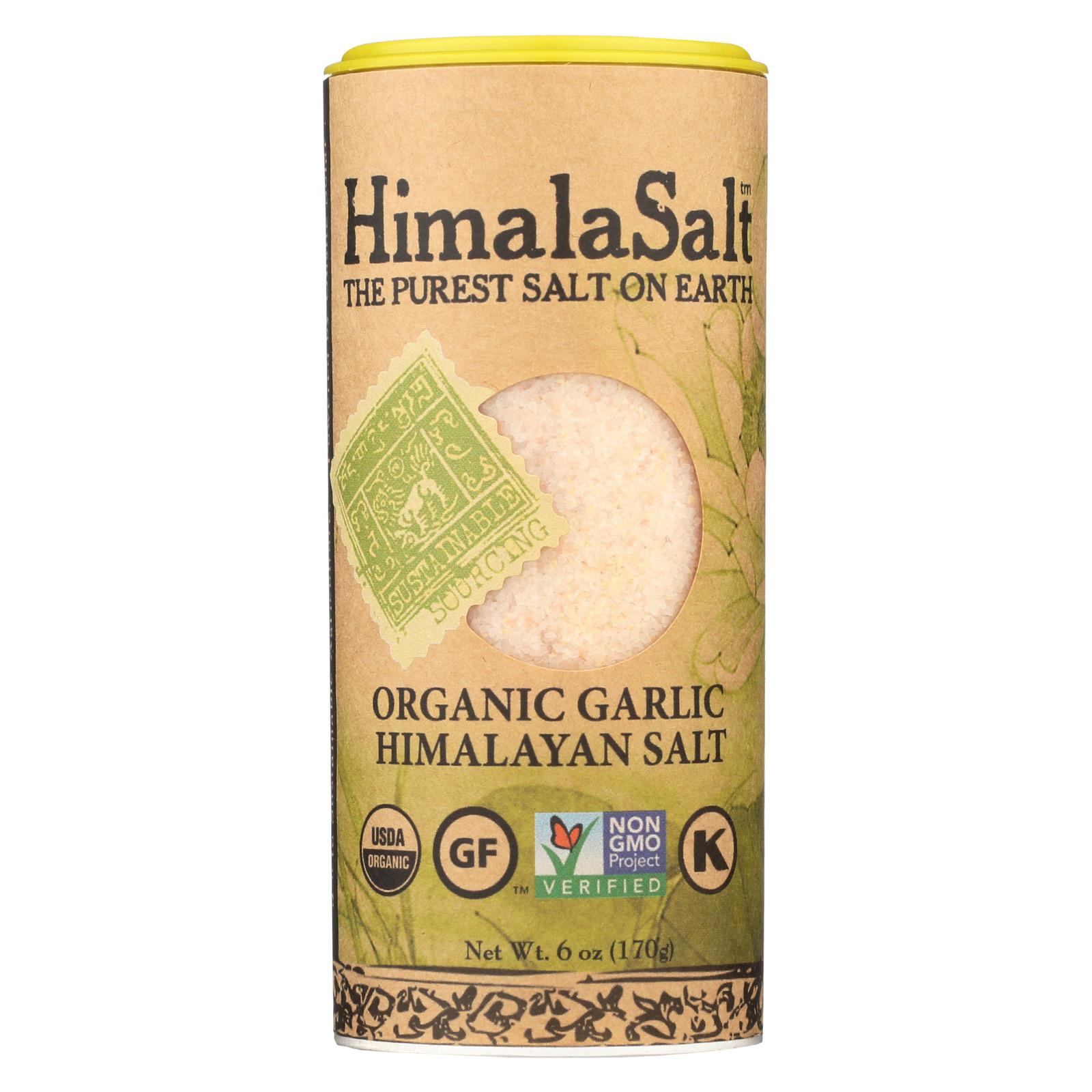 Himalasalt Organic Garlic Salt Shaker - Case of 6 - 6 oz